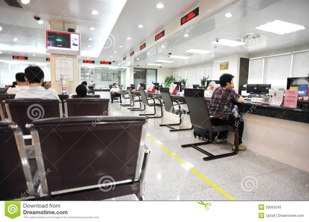 Visitors In Bank Office Editorial Image Image 20563245