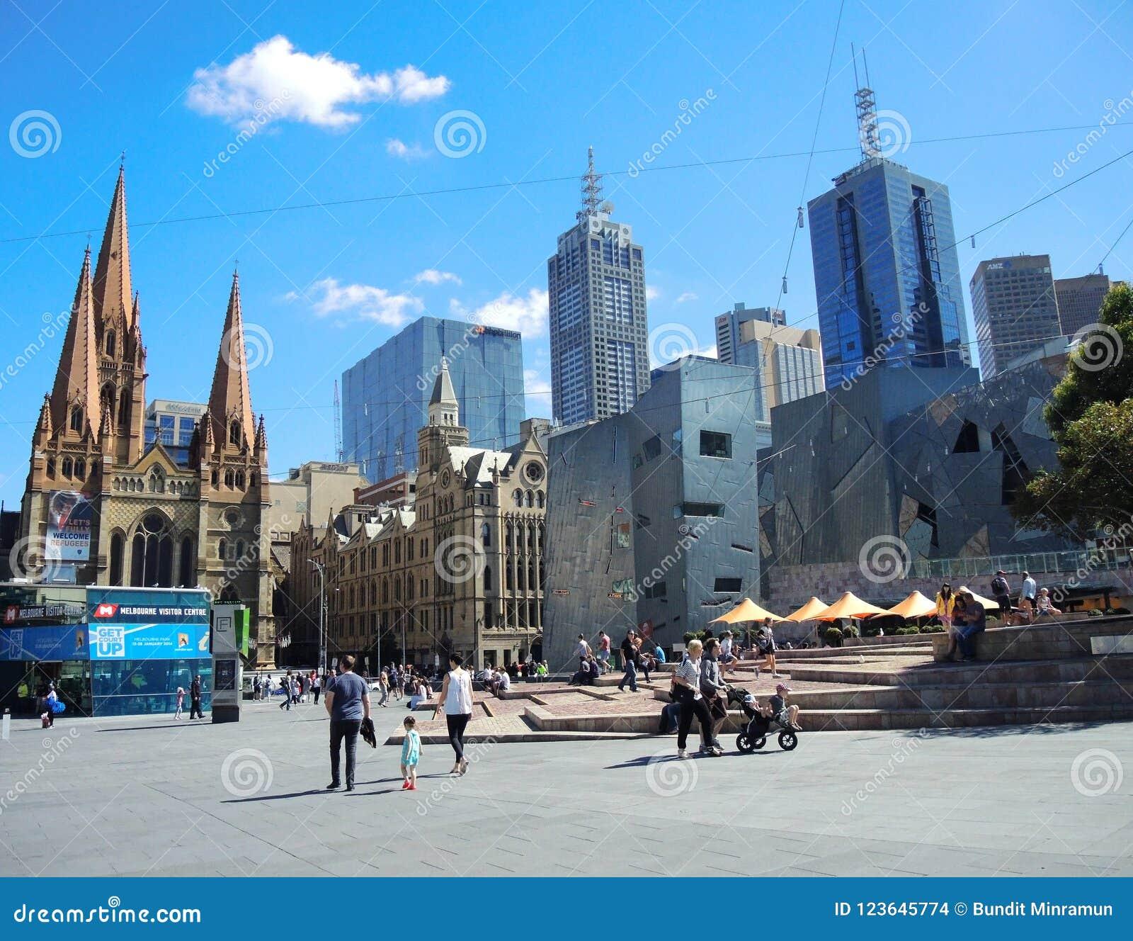 The Visitors Centre in Federation Square in the CBD of Melbourne.