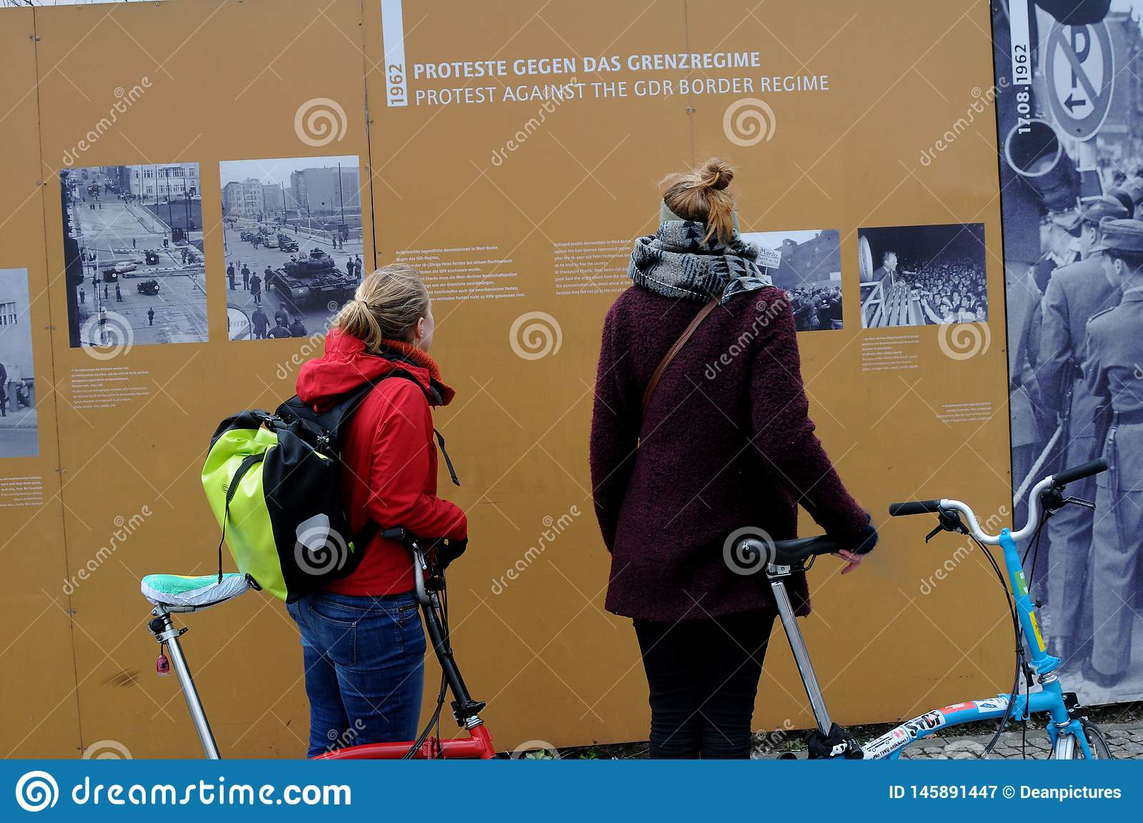 VISITORS AND LIFE AT CHECK POINT CHARLIES BERLIN. Check point charlie/berlain/ 05.March 2019. _Images are from Check point charlie, berlin 1989-2019 this Berlin royalty free stock photography