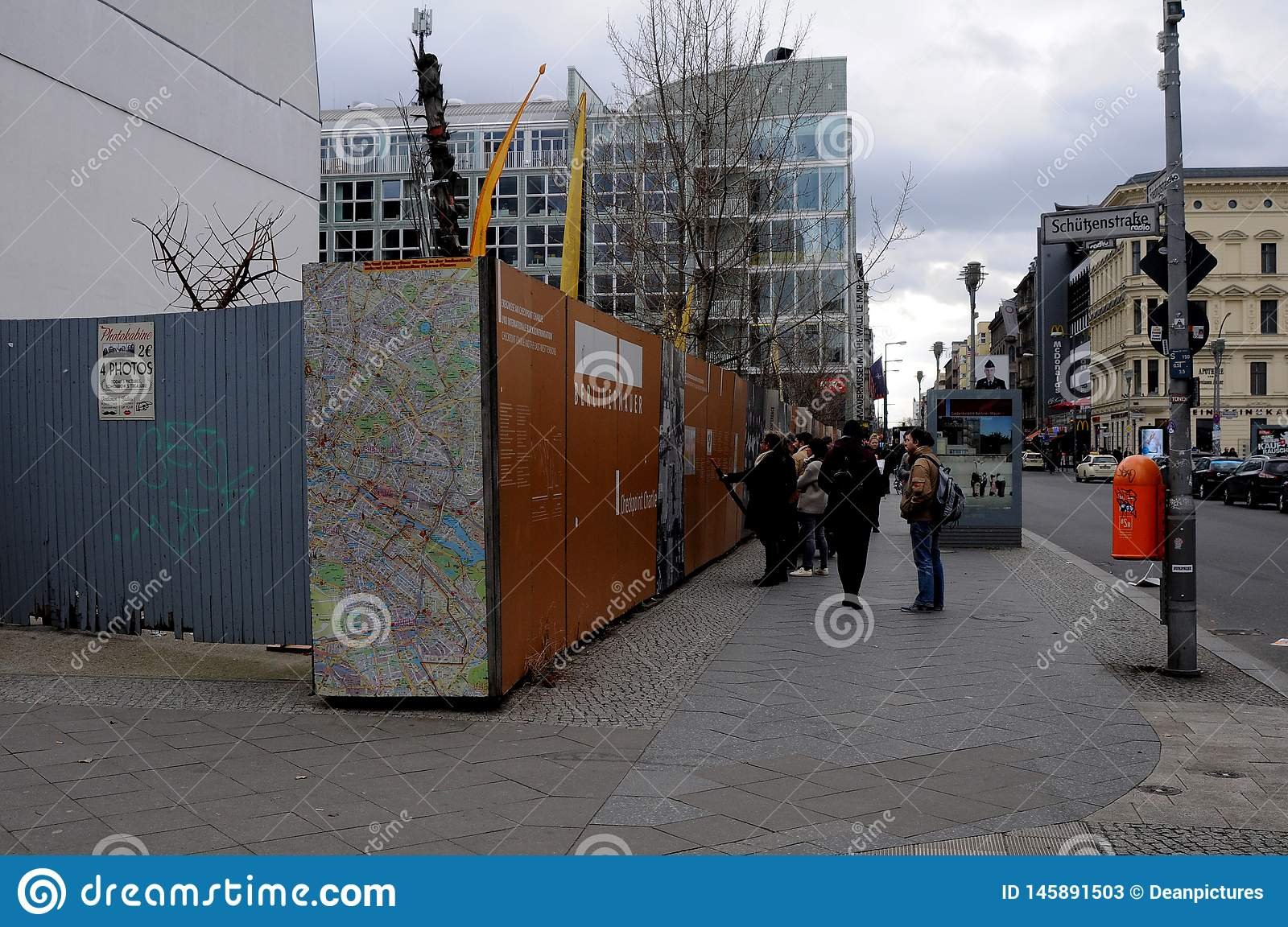 VISITORS AND LIFE AT CHECK POINT CHARLIES BERLIN. Check point charlie/berlain/ 05.March 2019. _Images are from Check point charlie, berlin 1989-2019 this Berlin stock photos