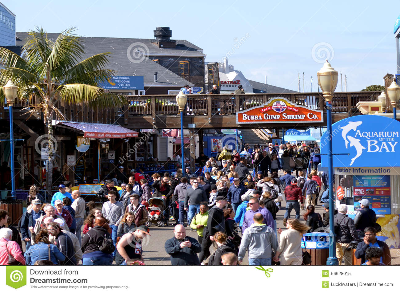 Visitors in pier 39 fishermans wharf san francisco ca for Fishing store san francisco