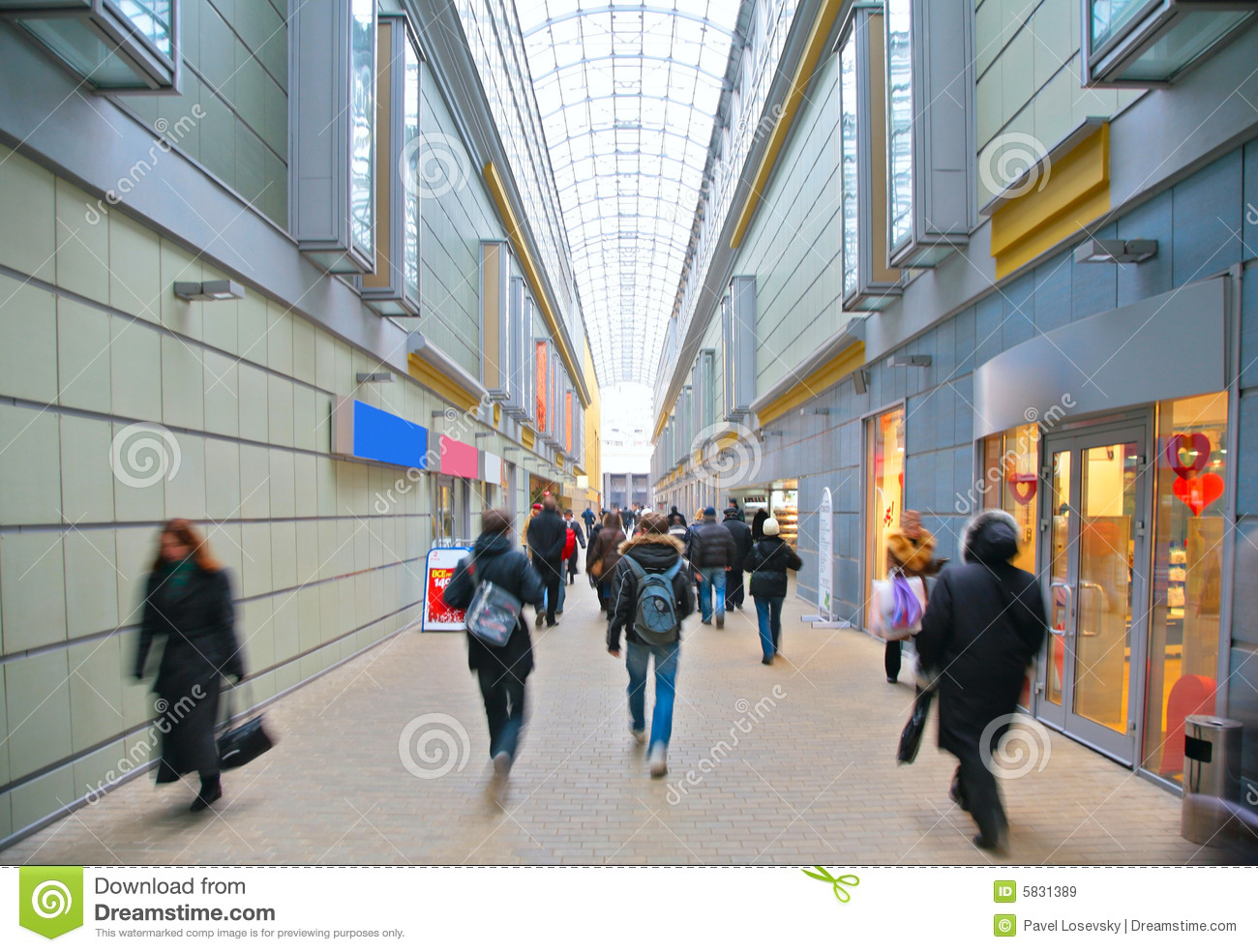 Download Visitors in store stock image. Image of commercial, human - 5831389