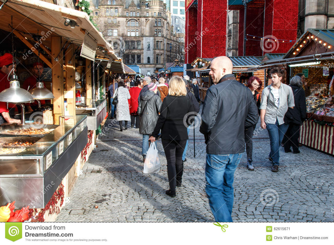 Visitors To The Manchester Christmas Market Editorial Photo