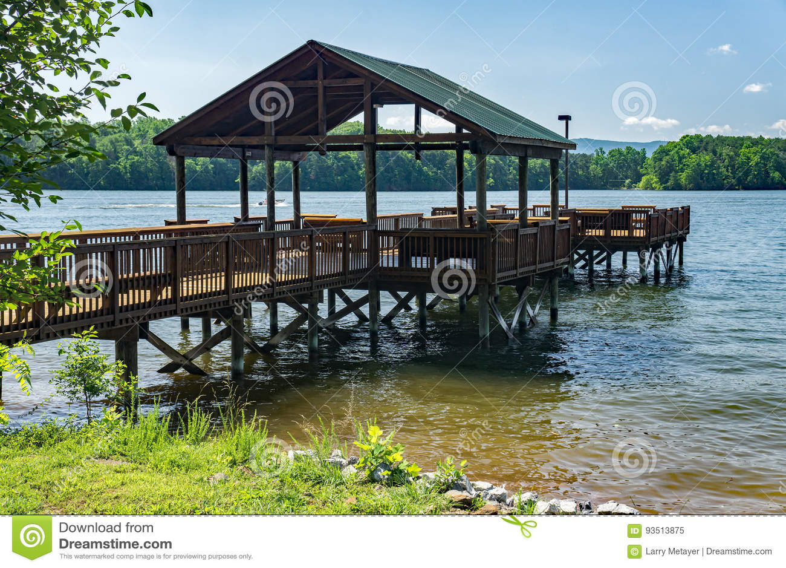 "Vissend Pijler †""Smith Mountain Lake, Virginia, de V.S."