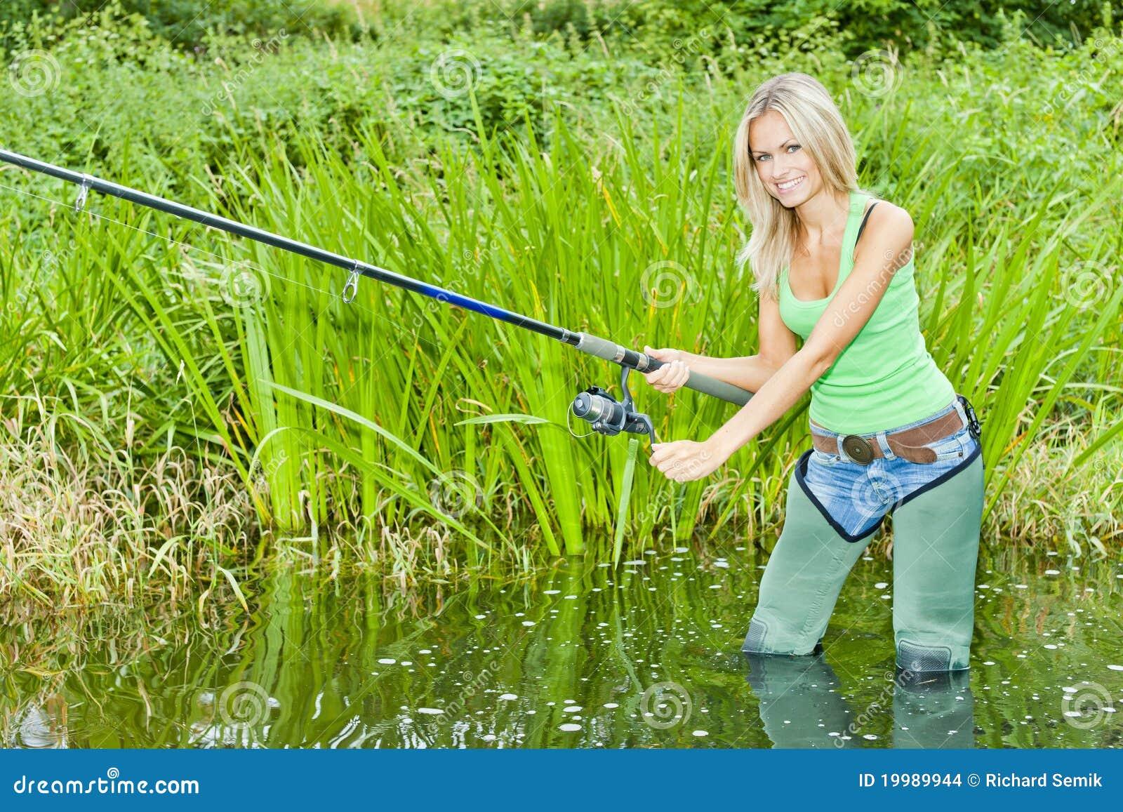 Vissende vrouw