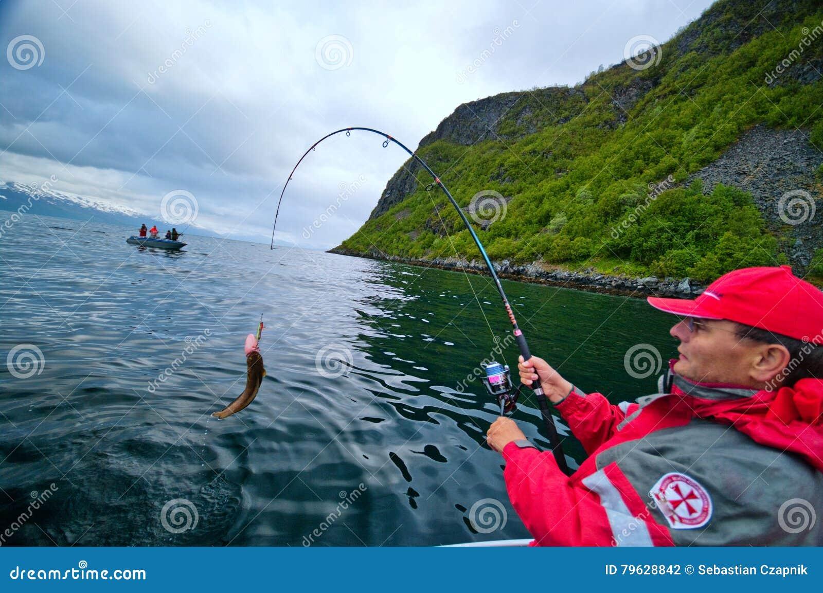 Visserij in fjord