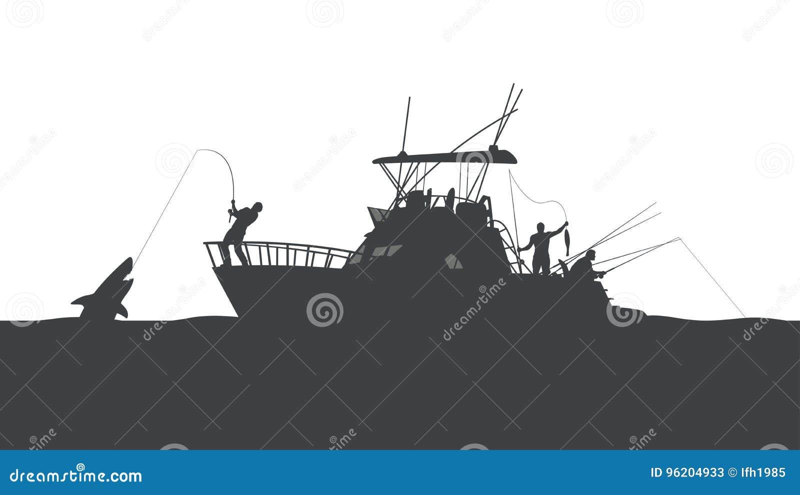 Visserij in oceaan