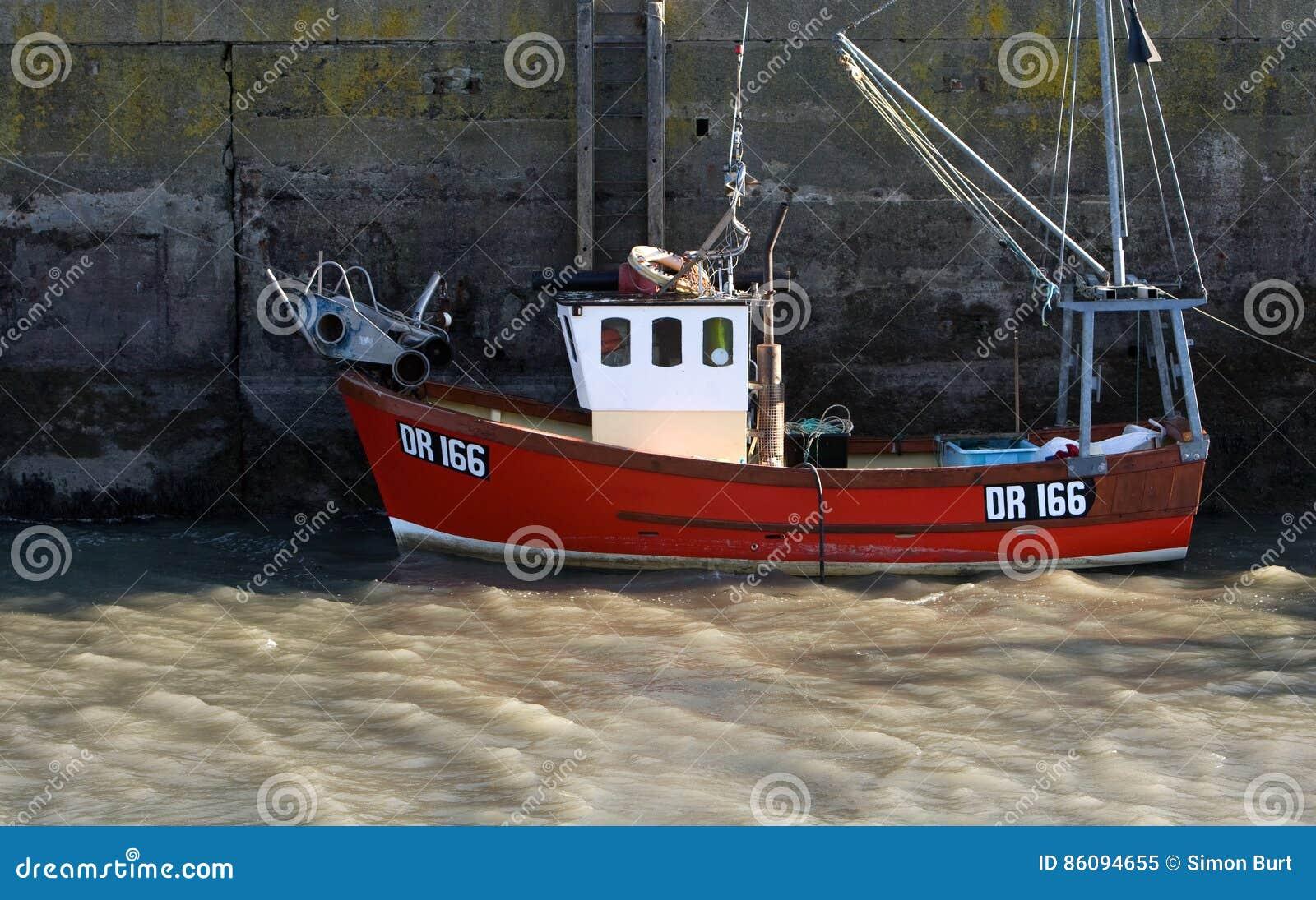 Vissersboot, Padstow, Cornwall, het UK