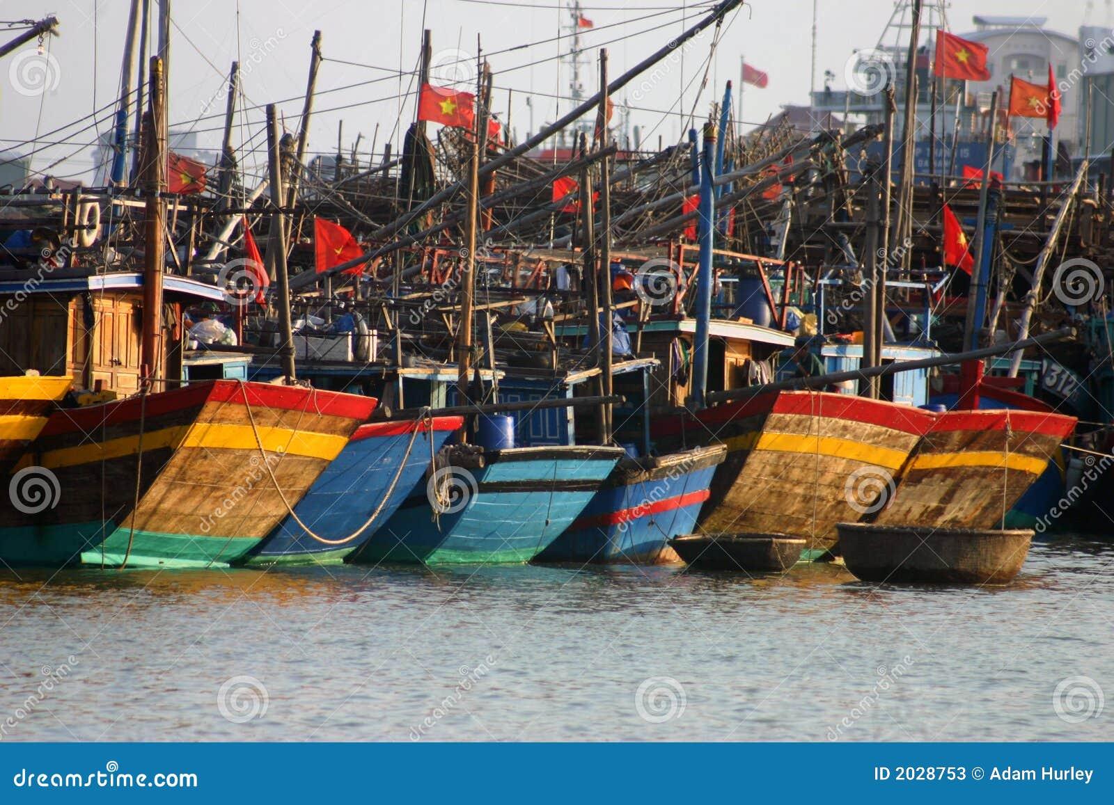 Vissersboten, Danang Vietnam