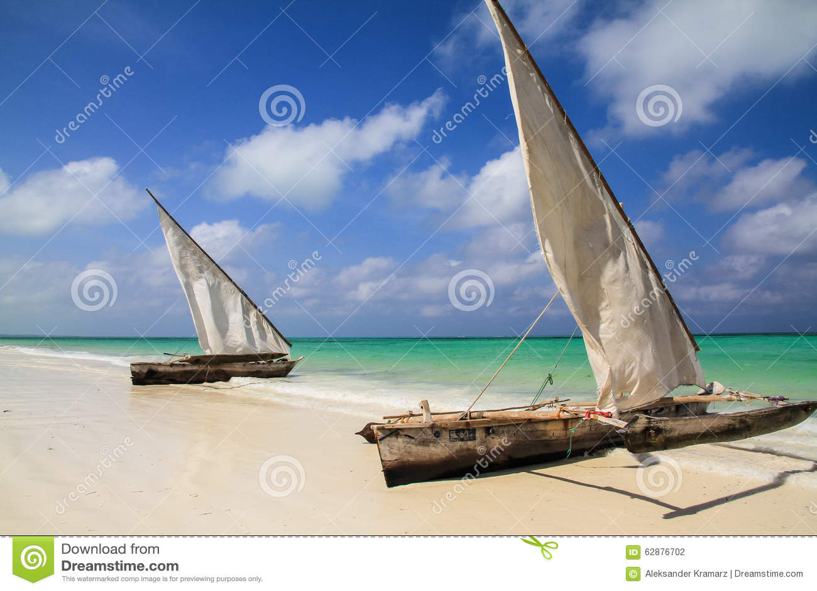 Vissersboten in Zanzibar