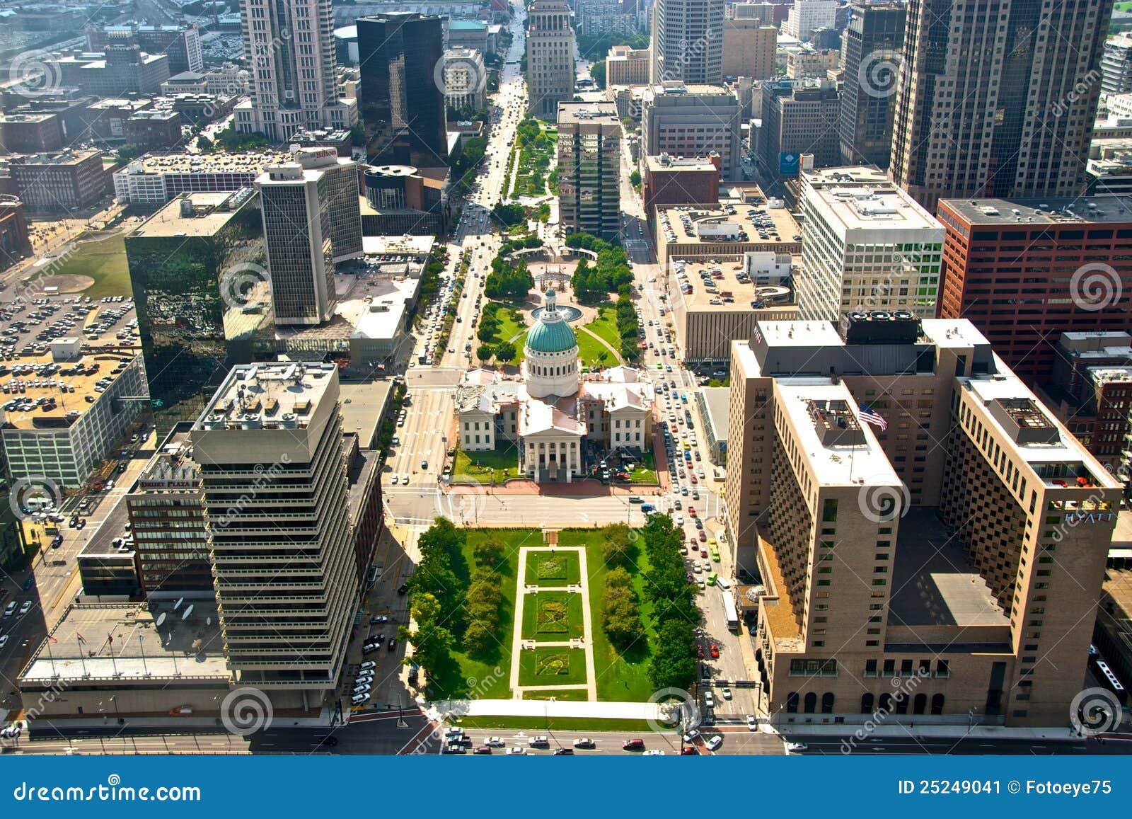 Vista aérea da cidade Scape de St Louis