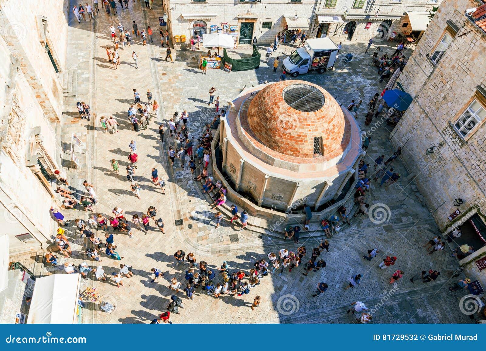 Vista aérea da cidade velha Dubrovnik
