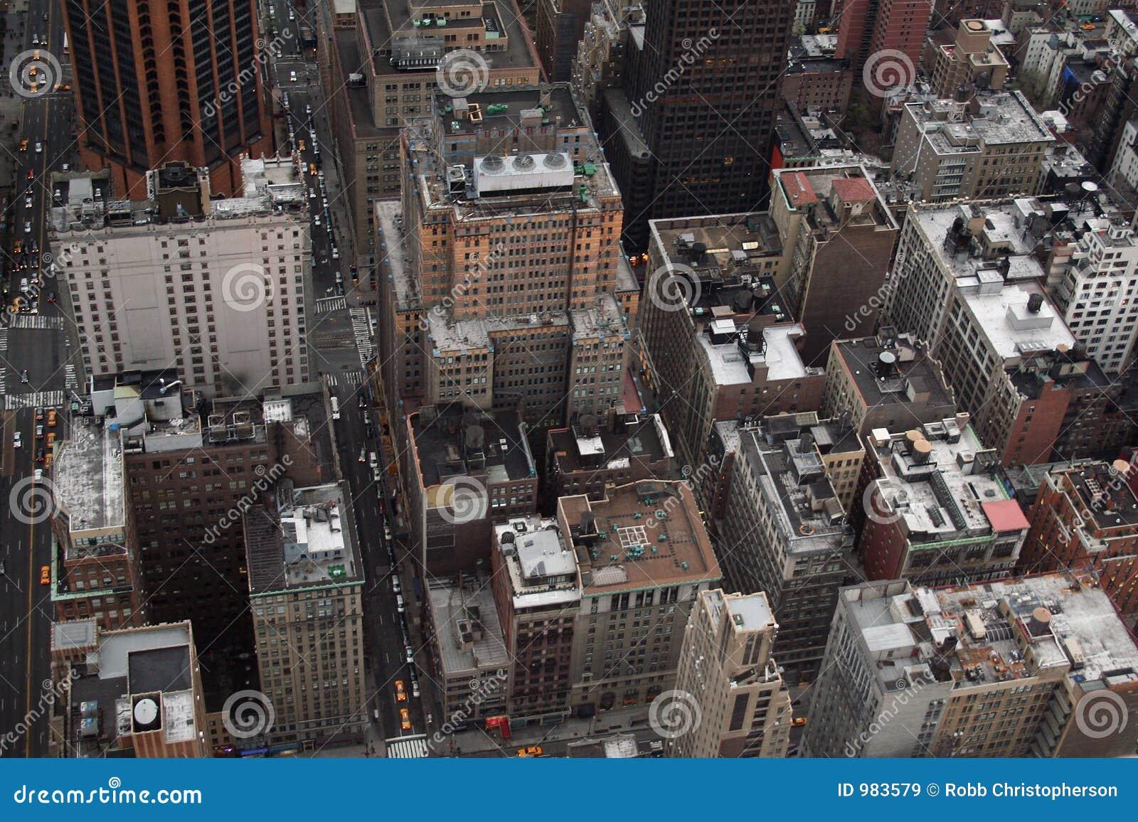 Vista aérea de edificios