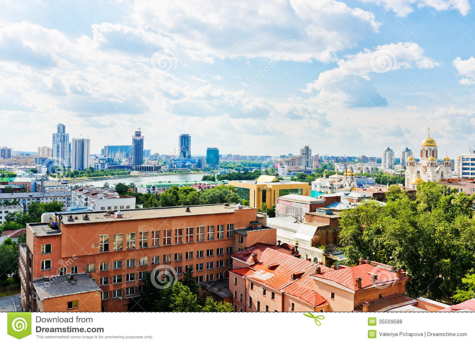 Vista aérea de Ekaterimburgo el 26 de junio de 2013