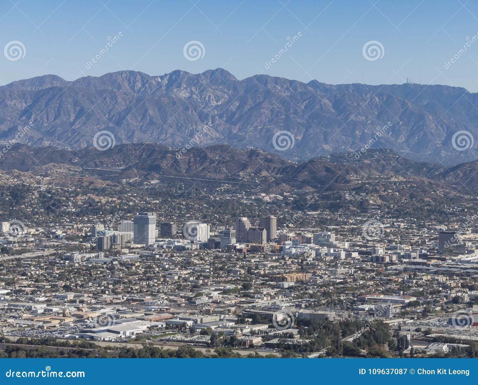 Vista aérea de Glendale céntrica