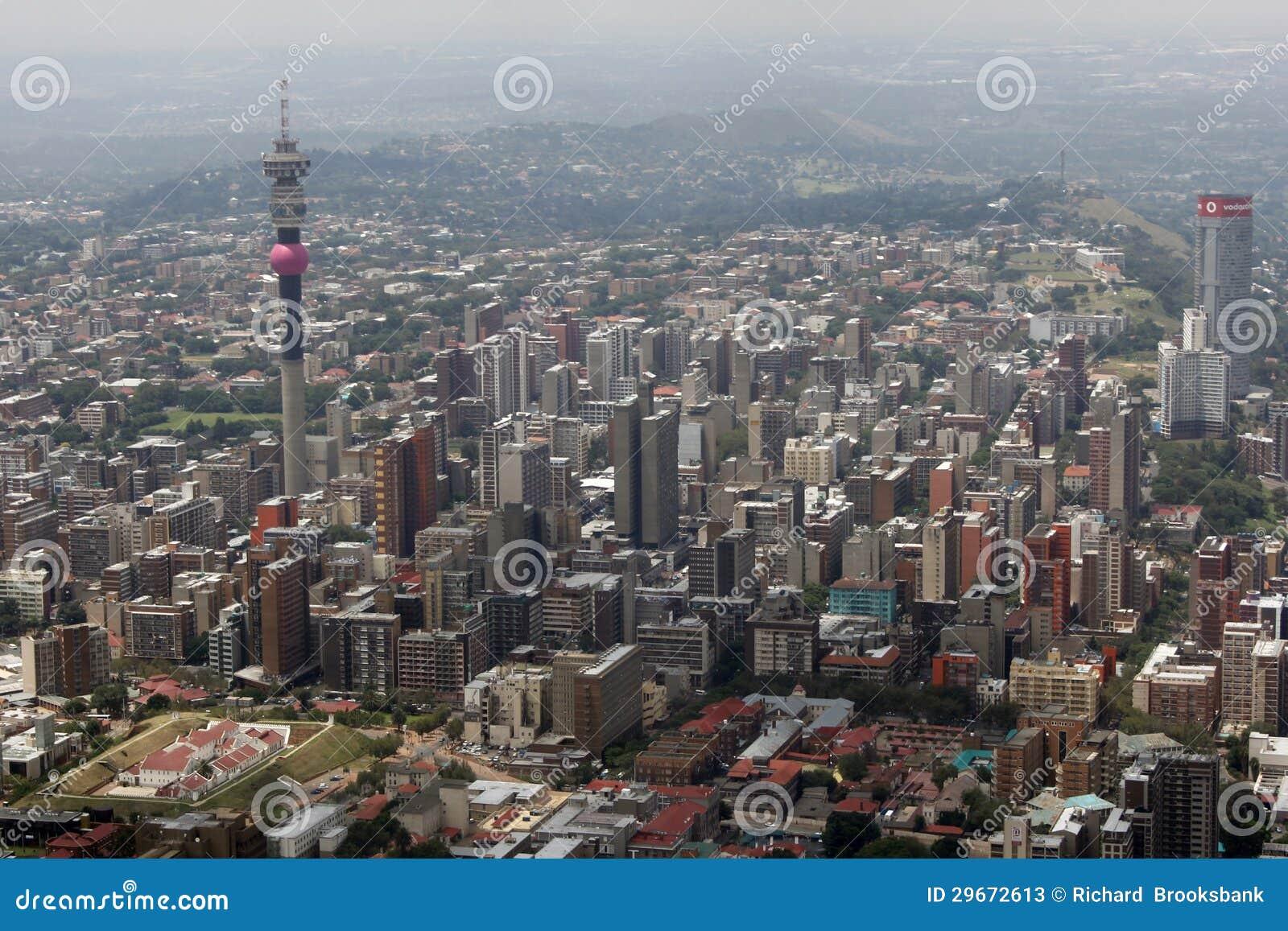Vista aérea de Joanesburgo