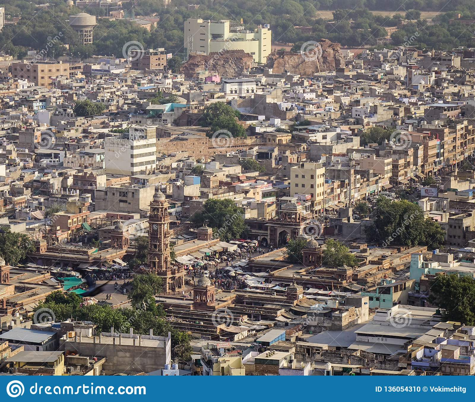 Vista aérea de Jodhpur, la India