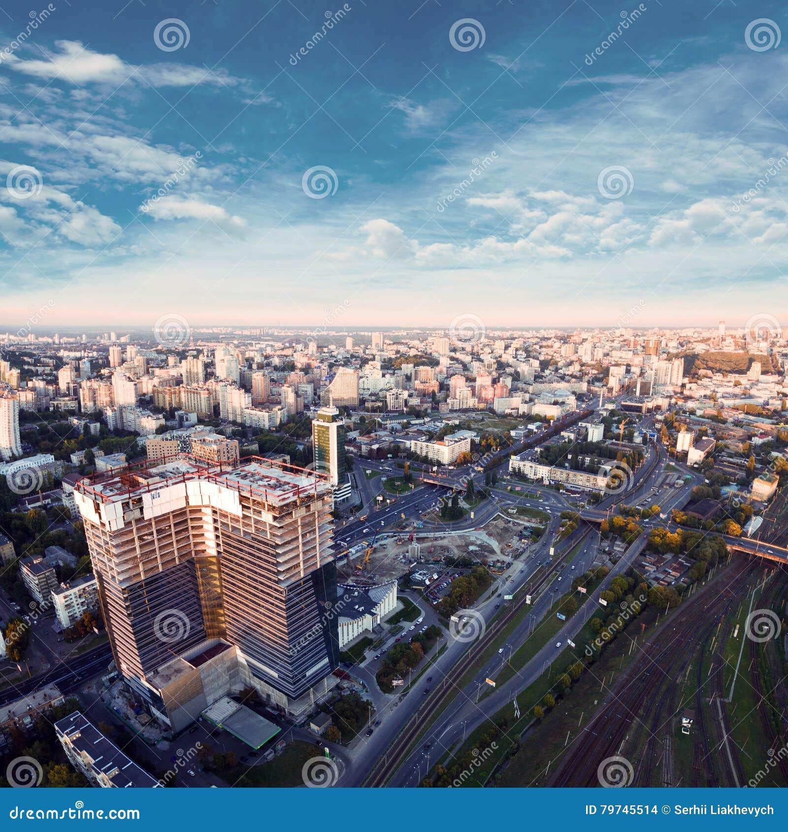 Vista aérea de la ciudad de Kiev ucrania