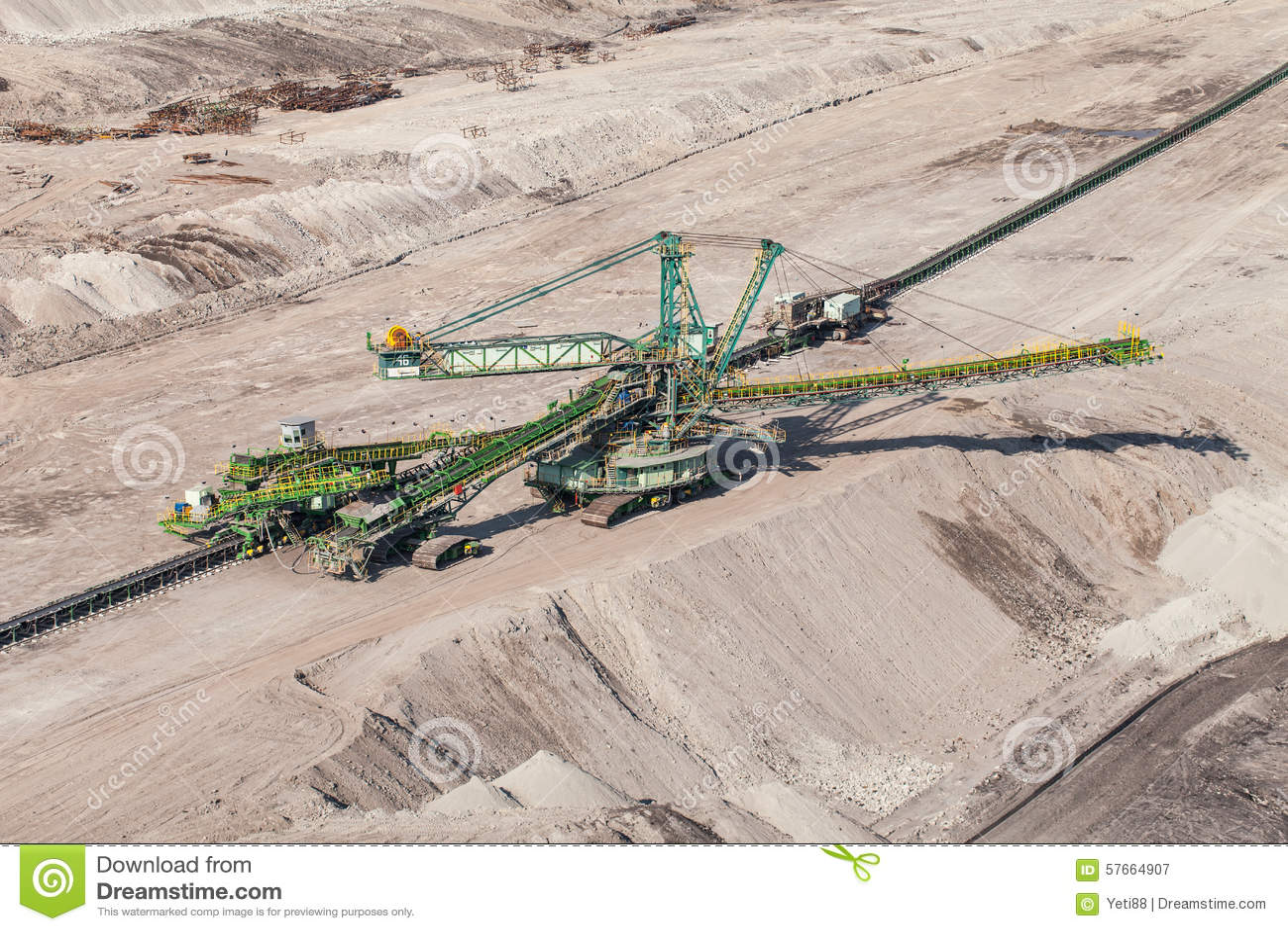 Vista aérea de la mina de carbón