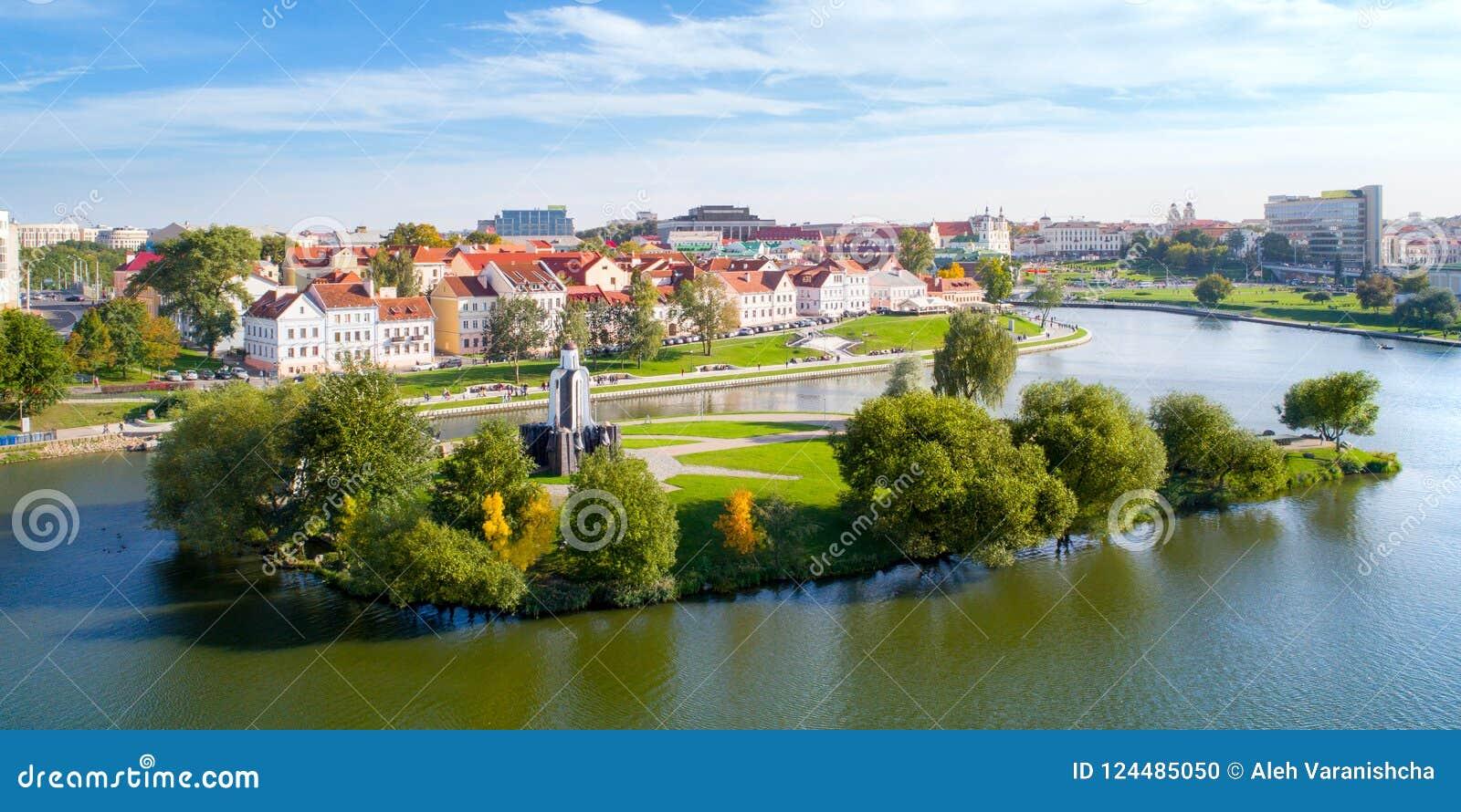 Vista aérea de Nemiga, Minsk belarus