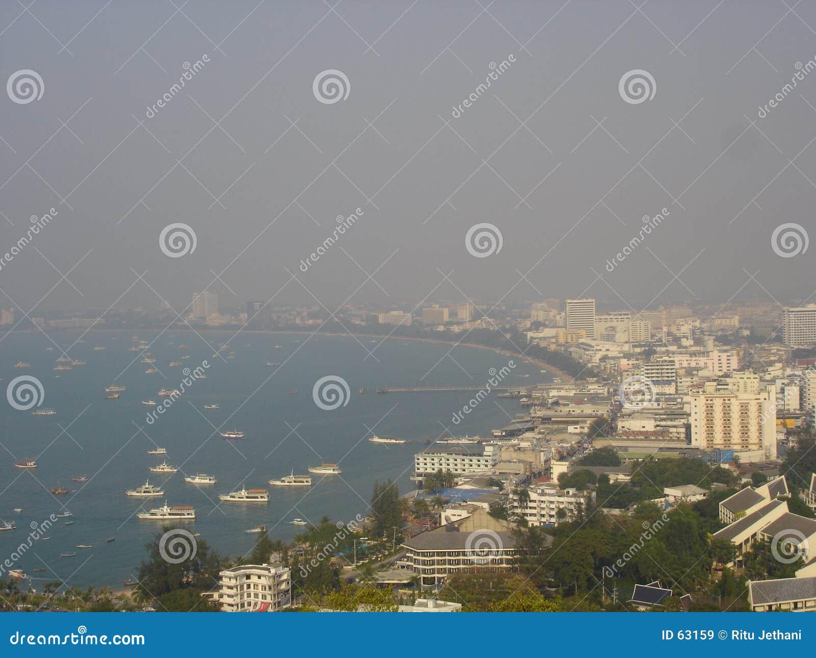 Vista aérea de Pattaya, Tailandia