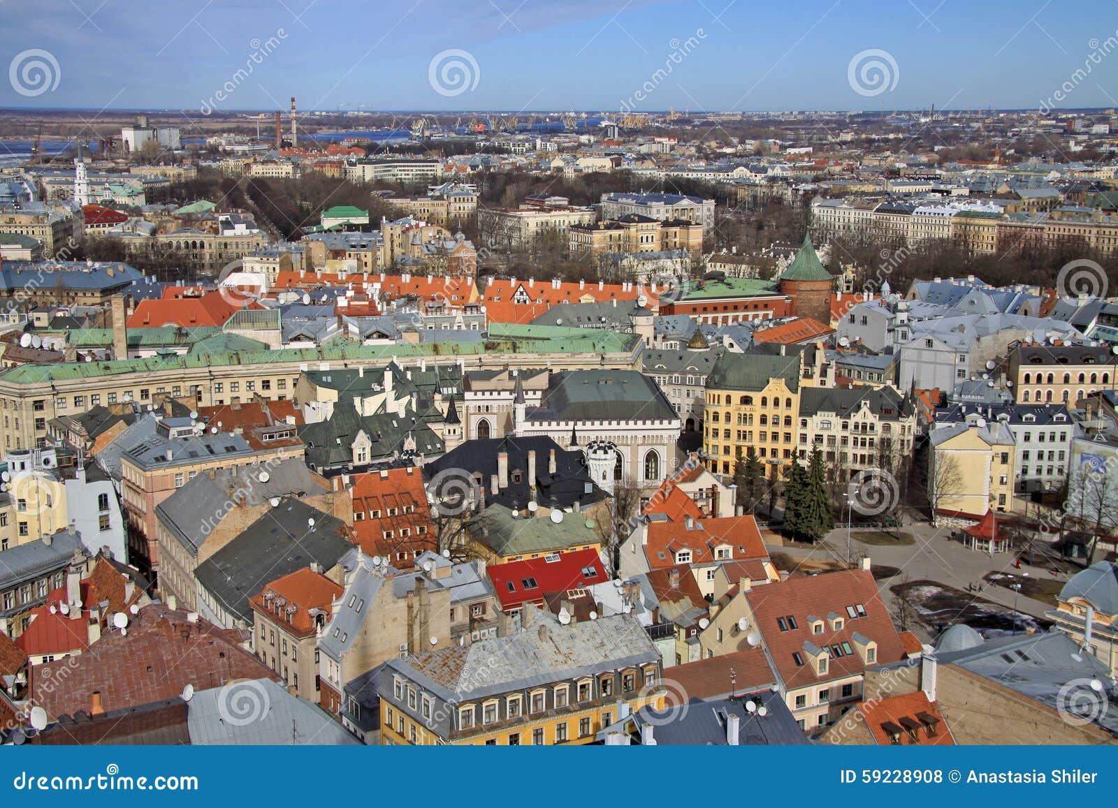 Download Vista Aérea De Riga De La Iglesia De San Pedro, Riga, Letonia Foto de archivo - Imagen de peter, iglesia: 59228908