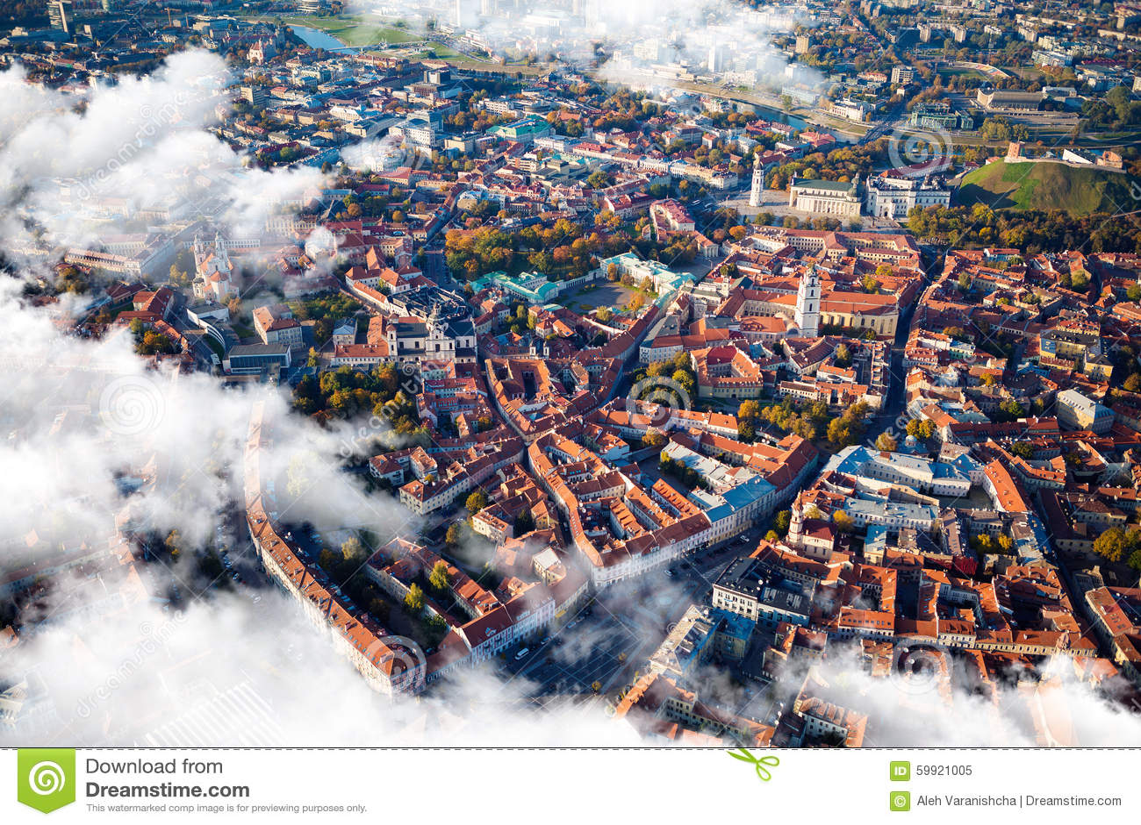 Vista aérea de Vilnius, Lituania