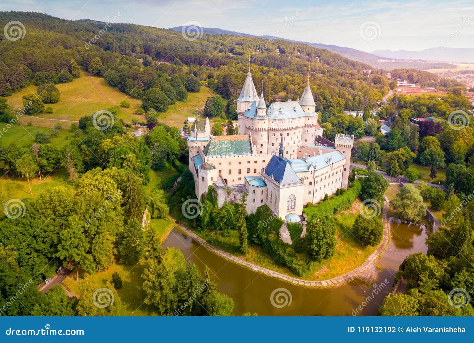 Vista aérea del castillo de Bojnice