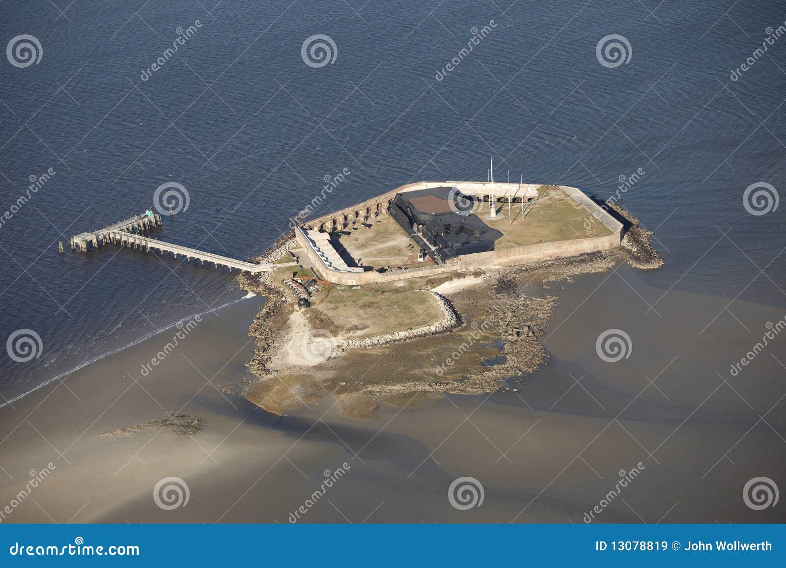 Vista aérea del sumter de la fortaleza