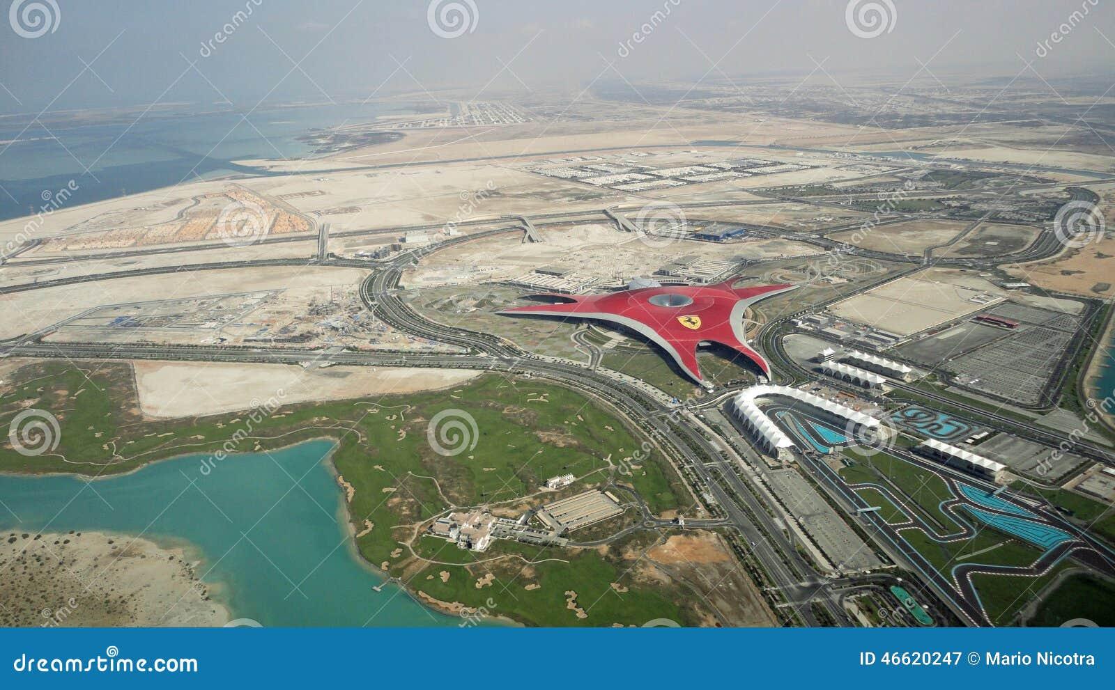 Vista A 233 Rea Do Mundo Abu Dhabi De Ferrari Fotografia