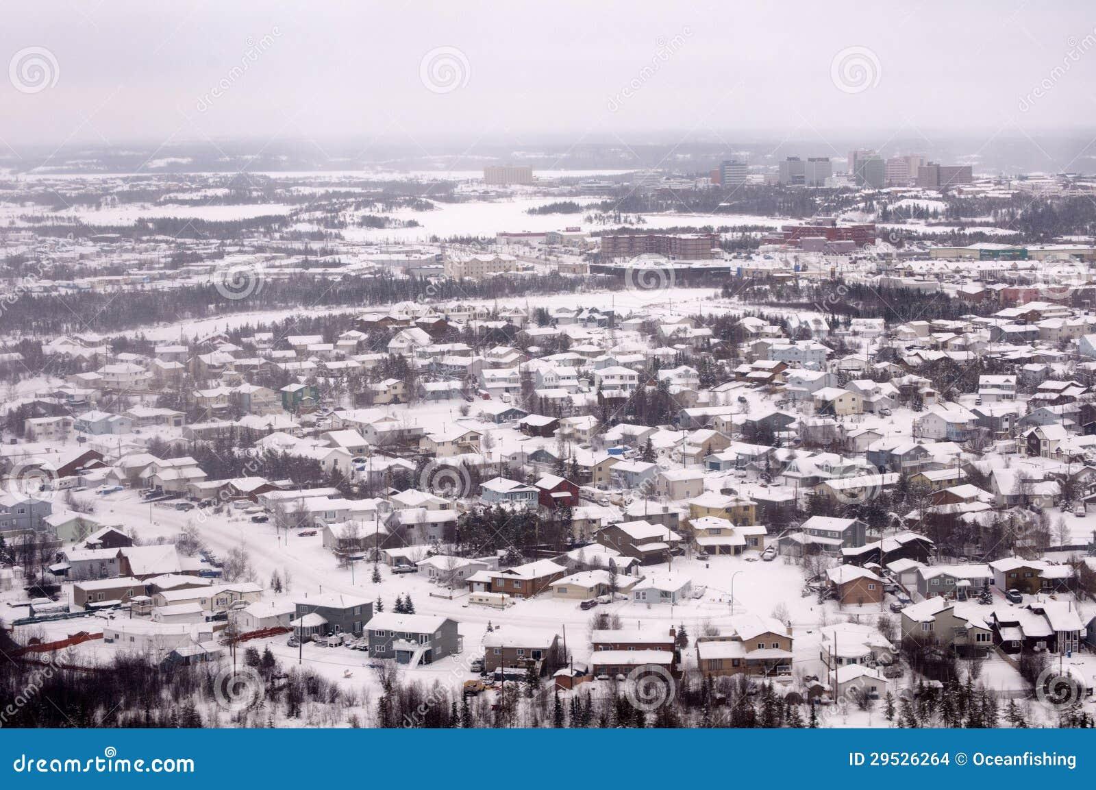 Vista aérea dos subúrbios