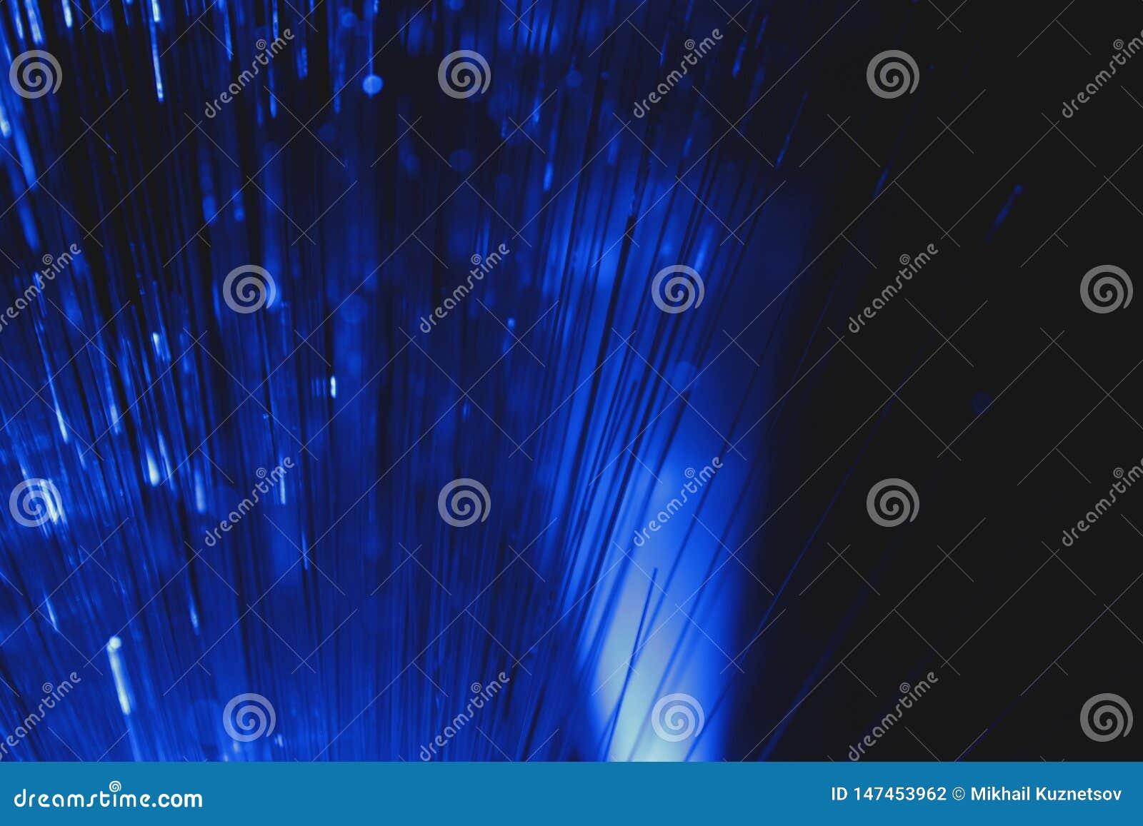 Vista abstracta de fibras ?pticas multicoloras como fondo