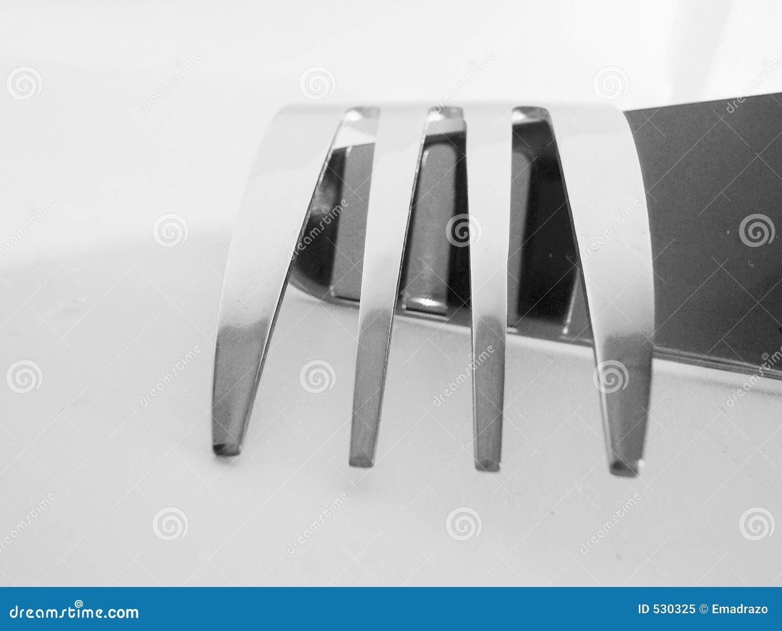 Vista abstrata de uma forquilha