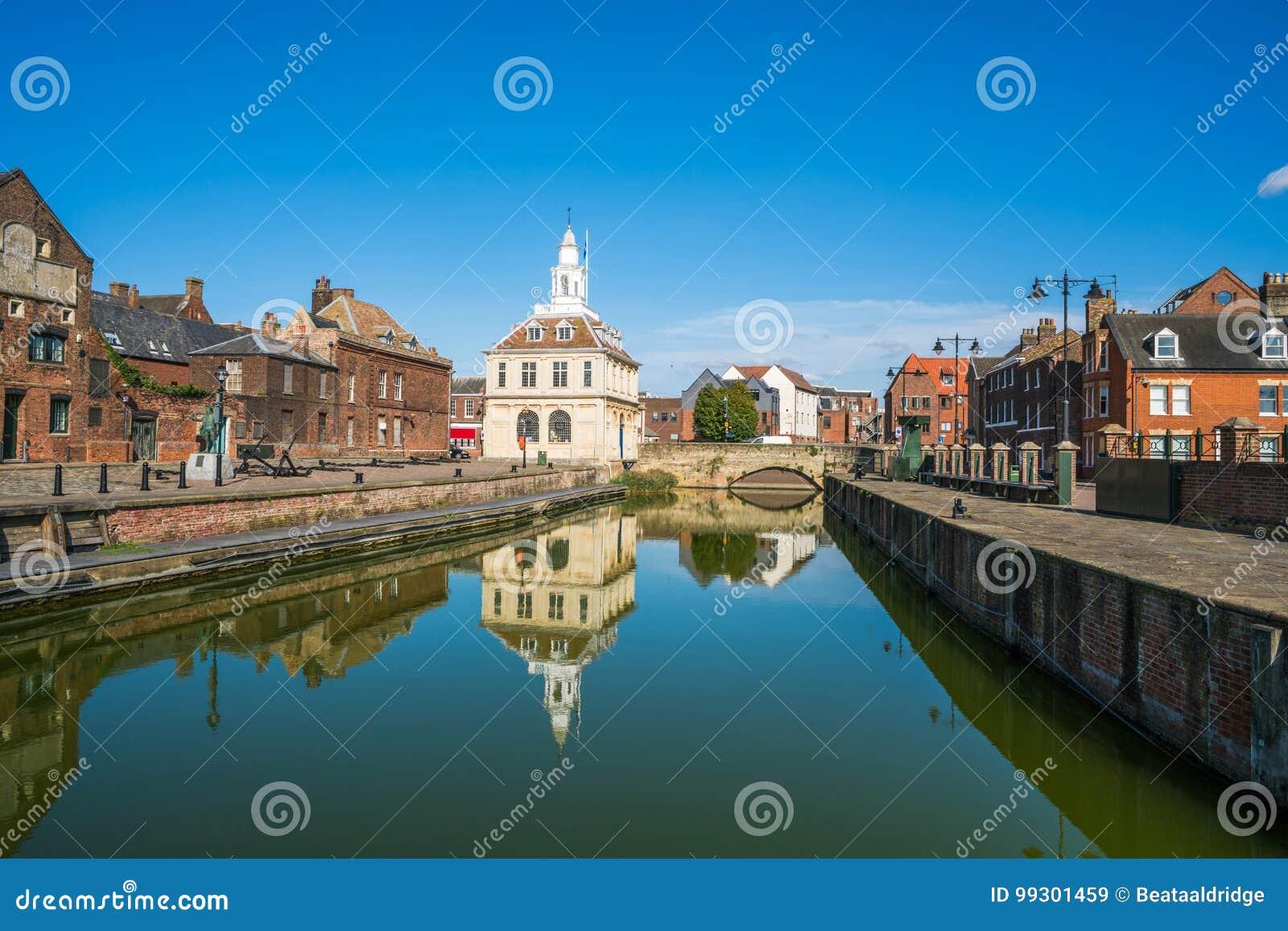 Vista aduanas viejo en el ` s Lynn, Norfolk del rey