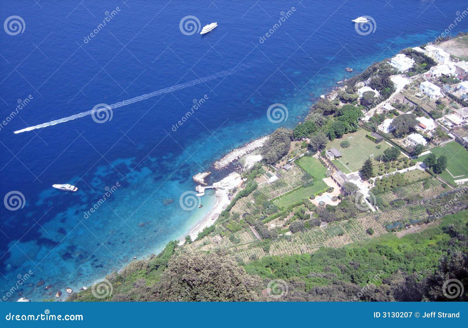 Vista aerea del ricorso litoraneo