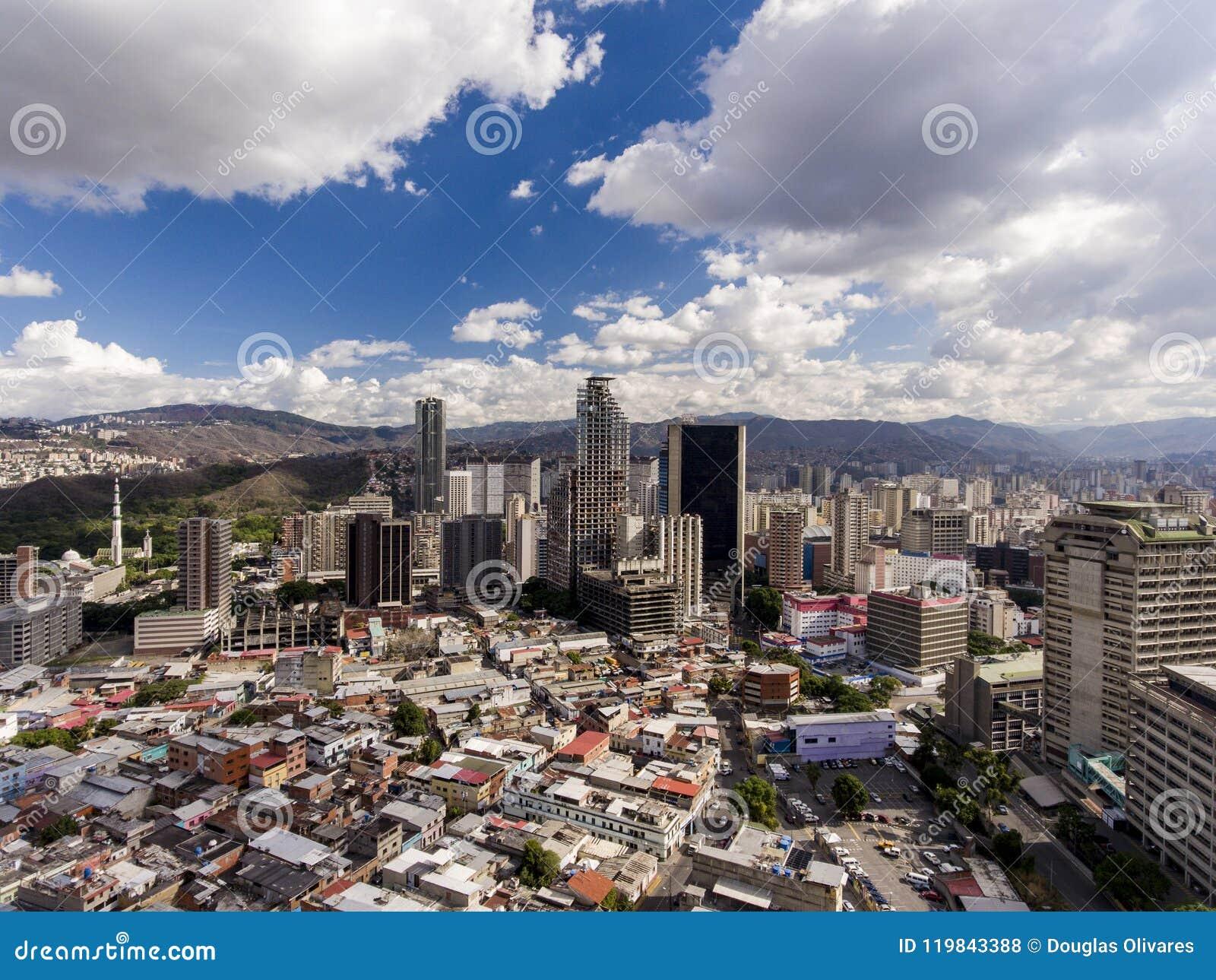 Vista aerea della città di Caracas, Venezuela