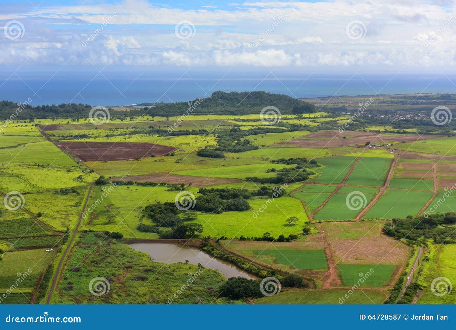 Vista aerea della costa ovest dell isola di Kauai