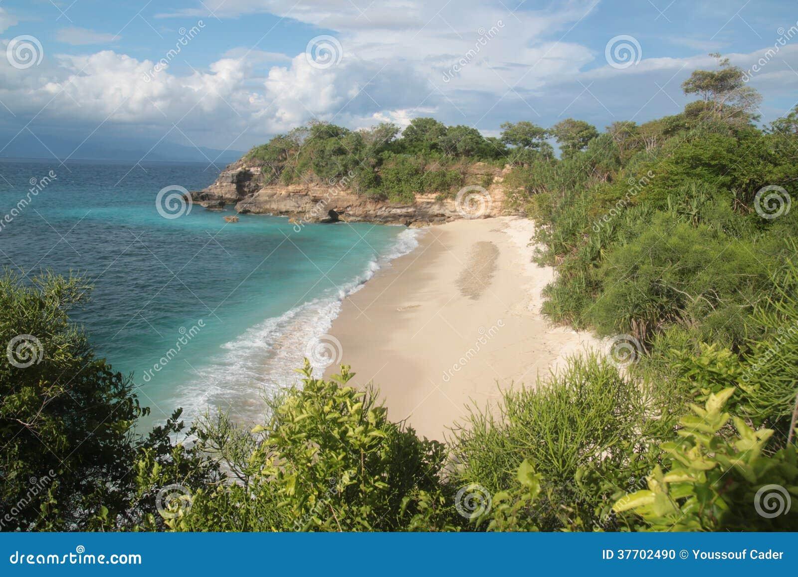 Vista aerea della spiaggia di Bali