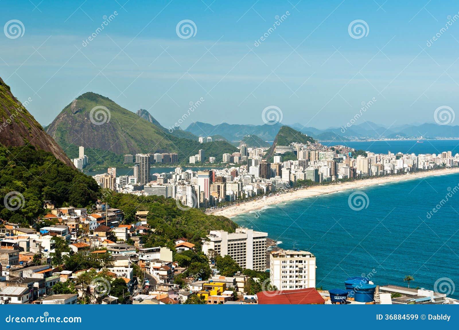 Download Vista Aerea Della Spiaggia Di Ipanema Immagine Stock - Immagine di paesaggio, litorale: 36884599