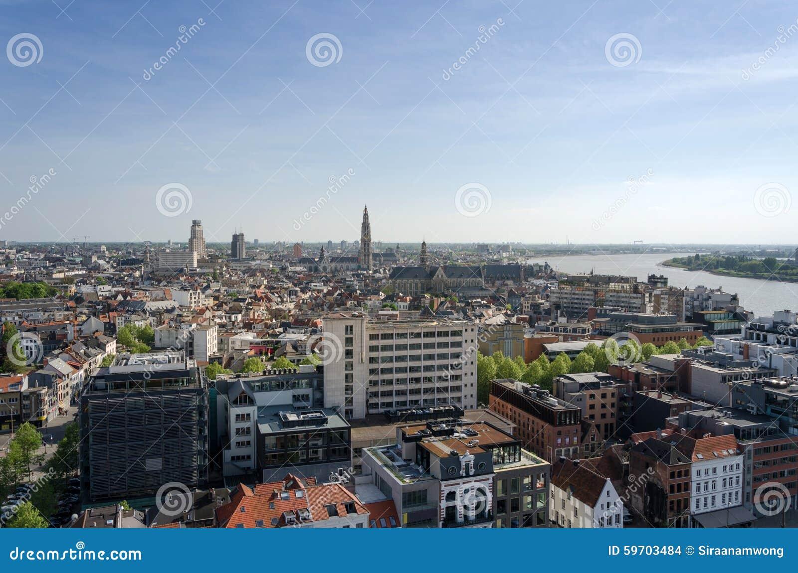 Vista aerea di Anversa, Belgio