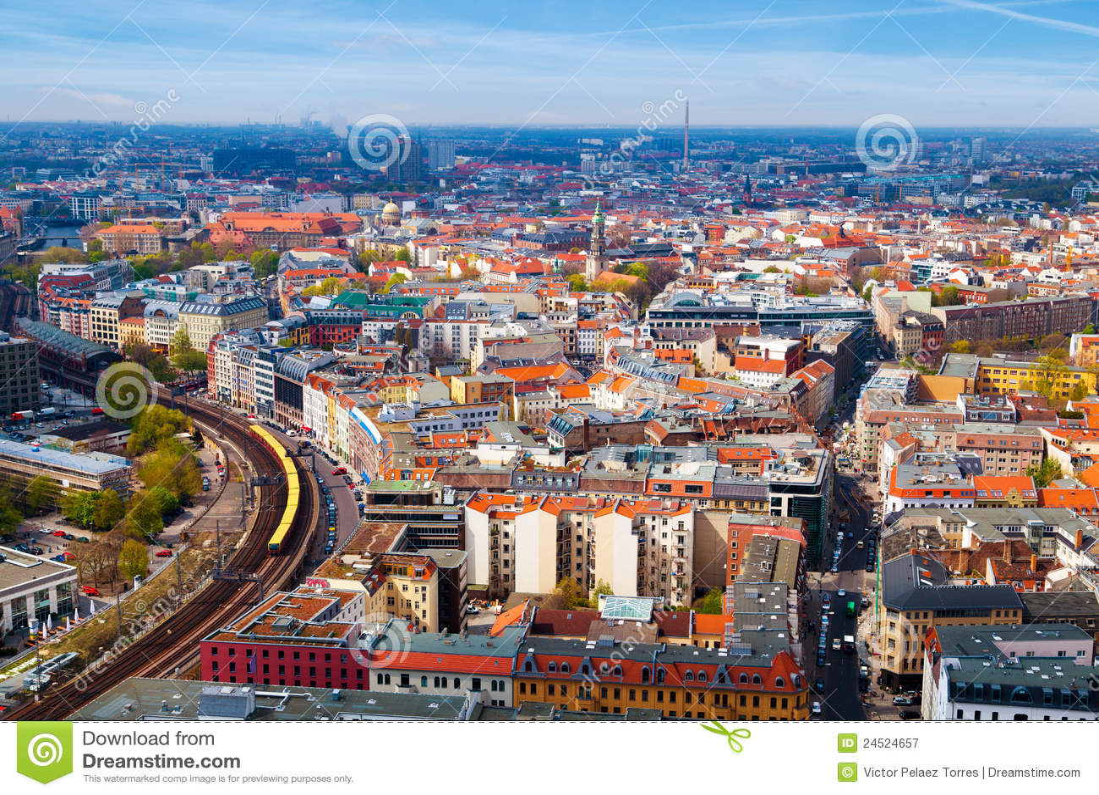 Vista aerea di Berlino