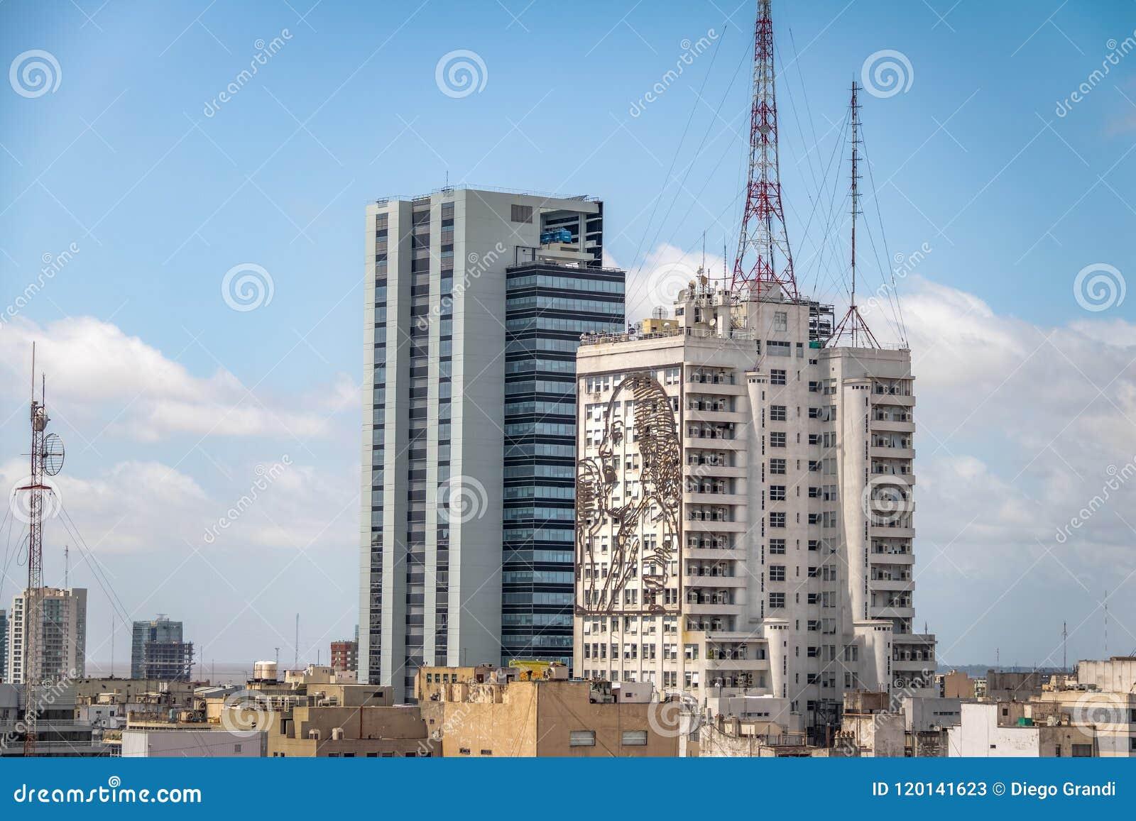 Vista aerea di Buenos Aires e ministero della sanità la costruzione - Buenos Aires, Argentina