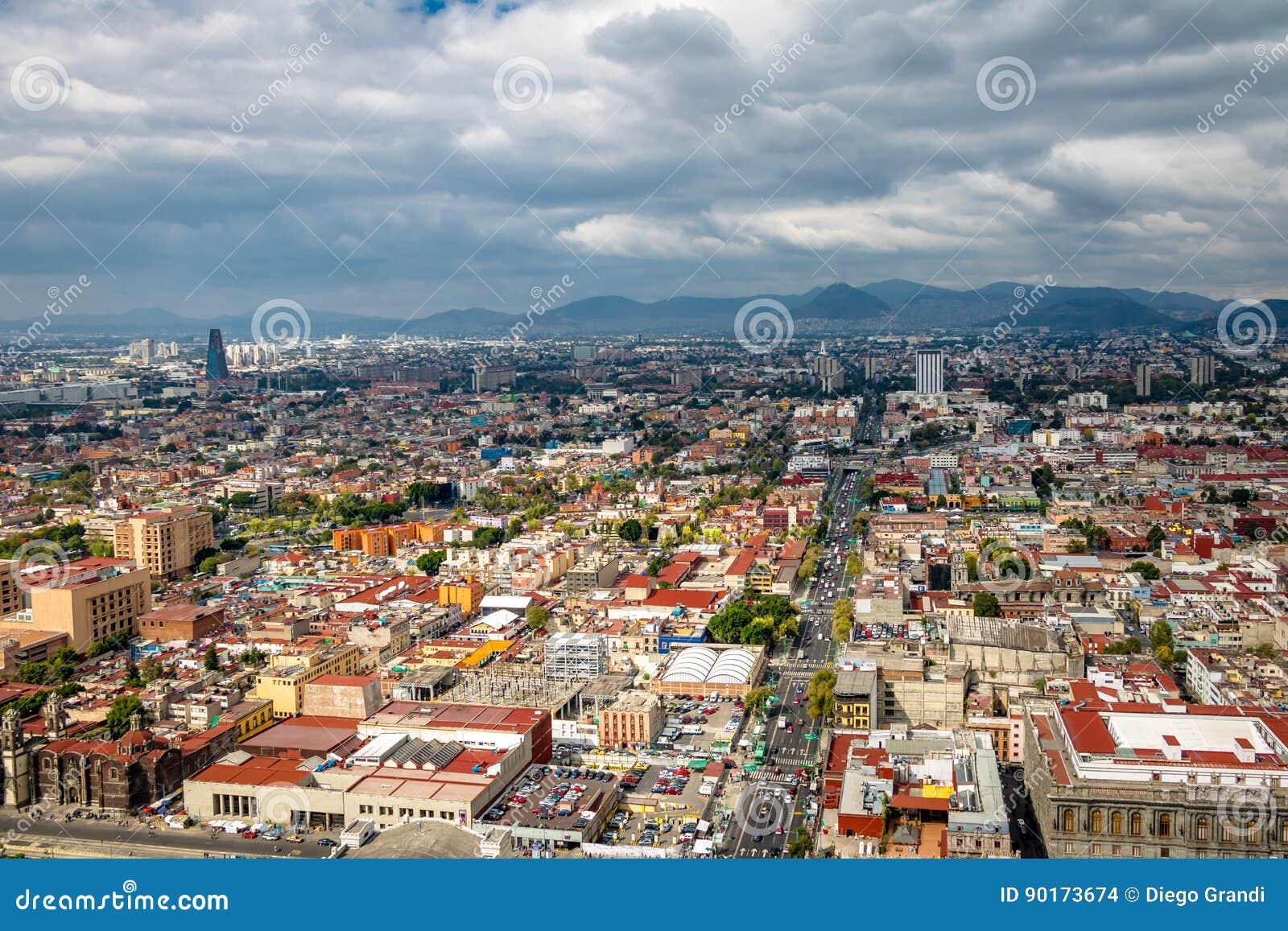 Vista aerea di Città del Messico - il Messico