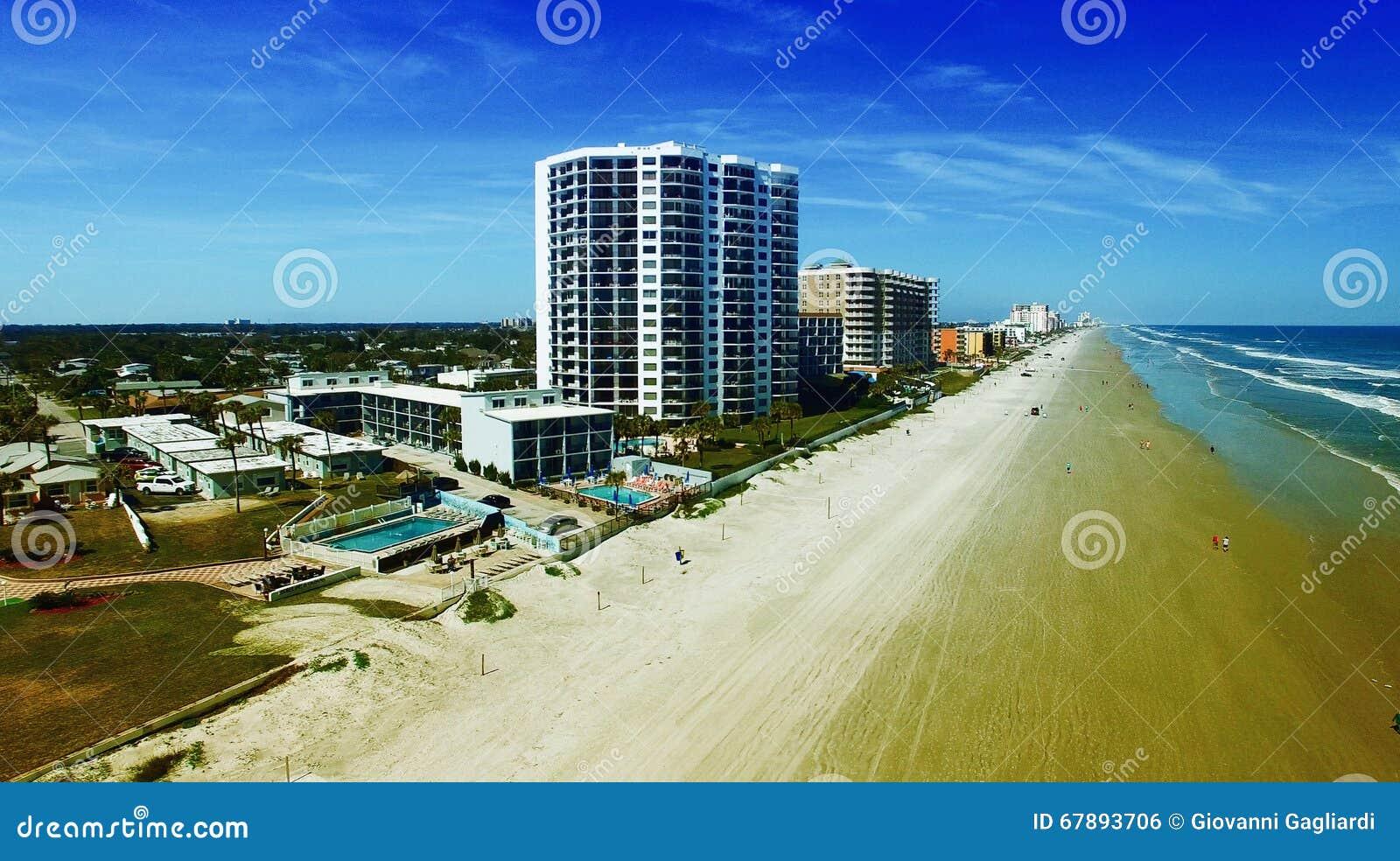 Vista aerea di Daytona Beach