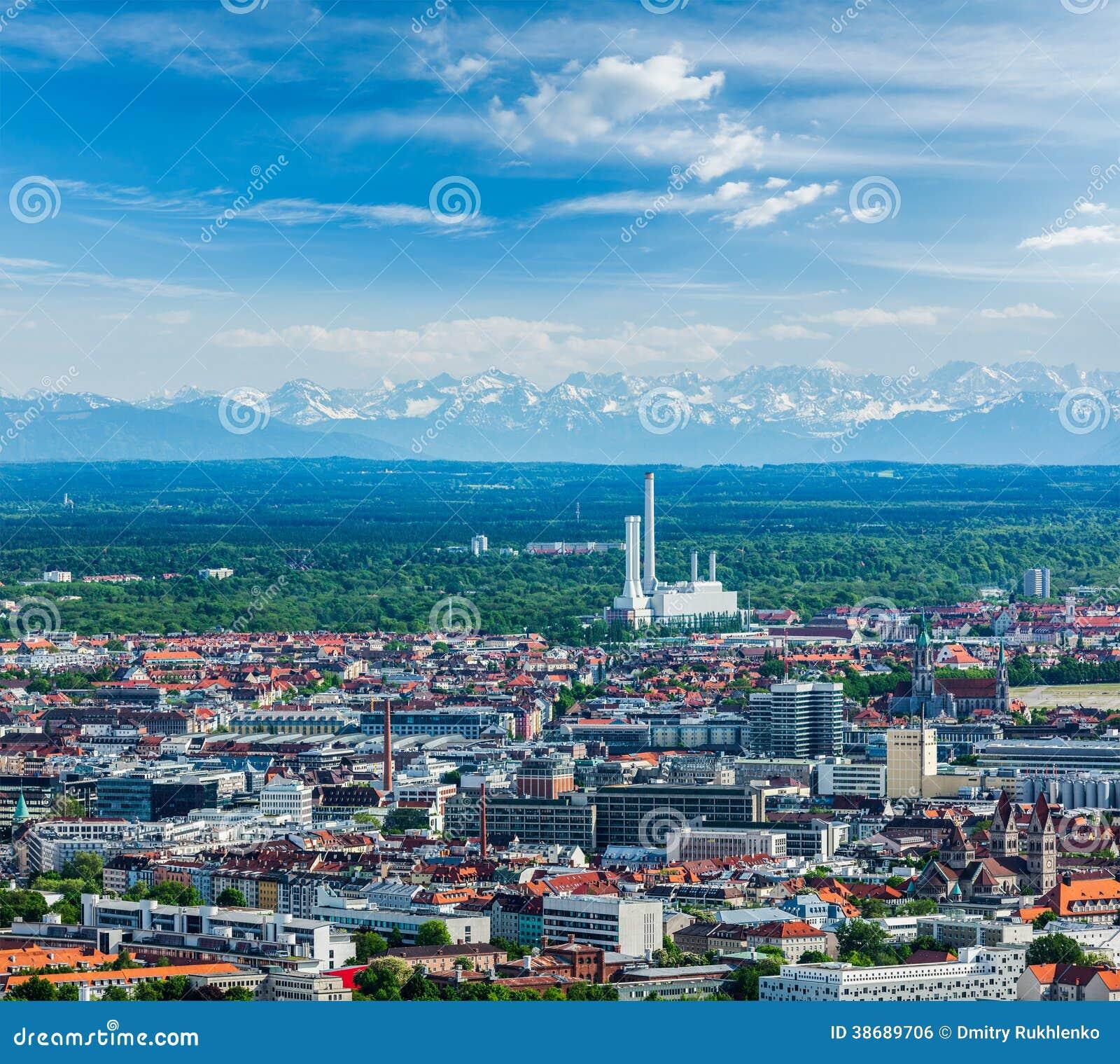 Vista Aerea Di Monaco Di Baviera. Monaco Di Baviera ...