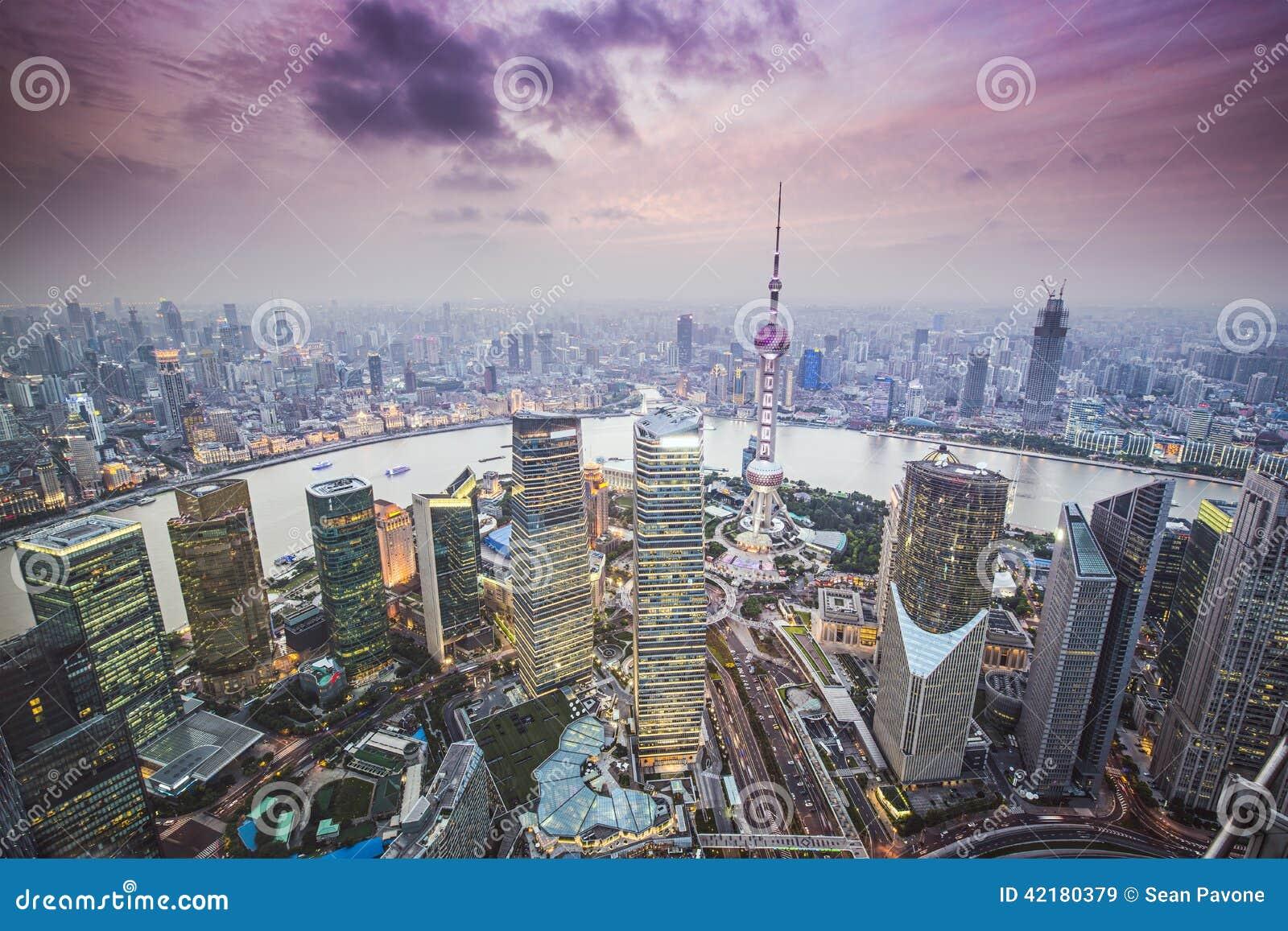 Vista aerea di Schang-Hai