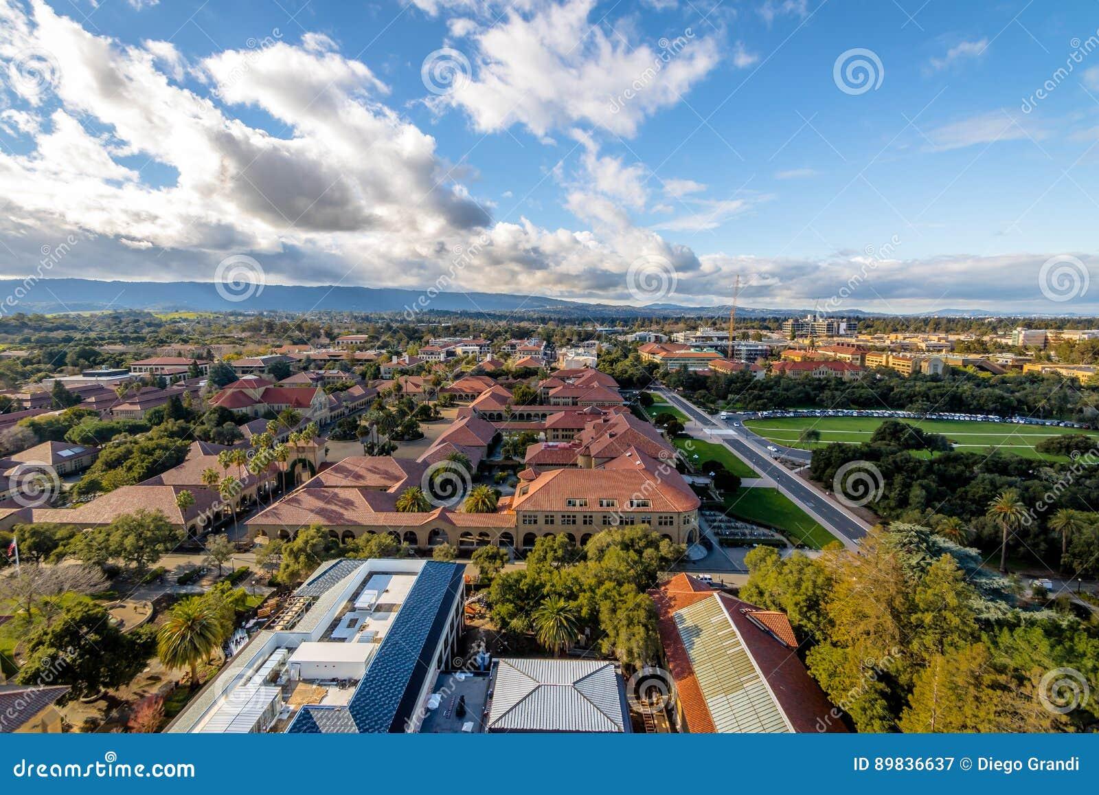 Vista aerea di Stanford University Campus - Palo Alto, California, U.S.A.