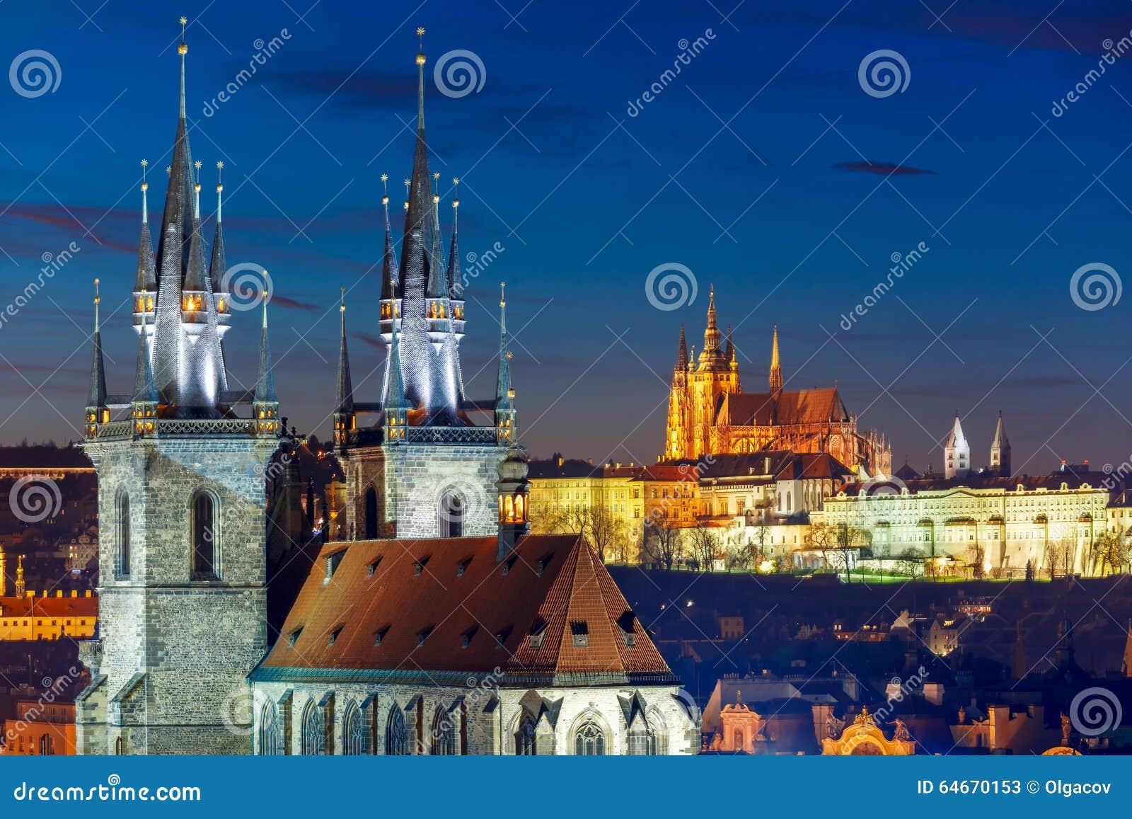 Vista aerea sopra Città Vecchia, Praga, repubblica Ceca