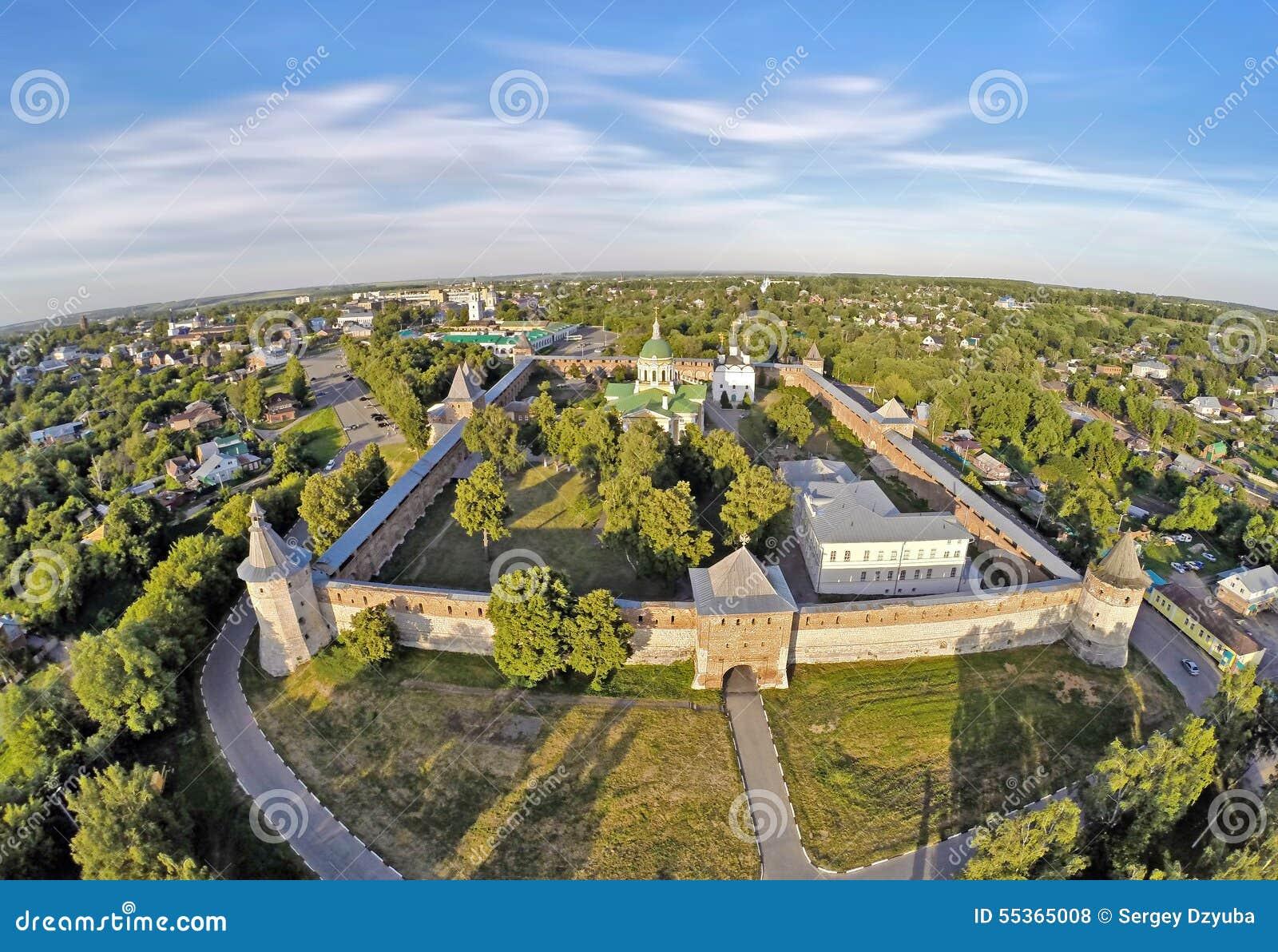 Vista aerea su Zarajsk kremlin