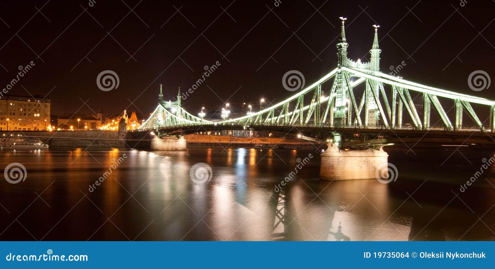 Vista al ponticello a Budapest, Ungheria